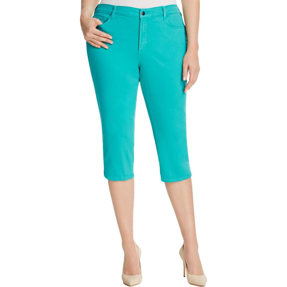 f8355922f67 Details about NYDJ Womens Ariel Slimming Fit High-Rise Straight Crop Jeans  Plus BHFO 2272