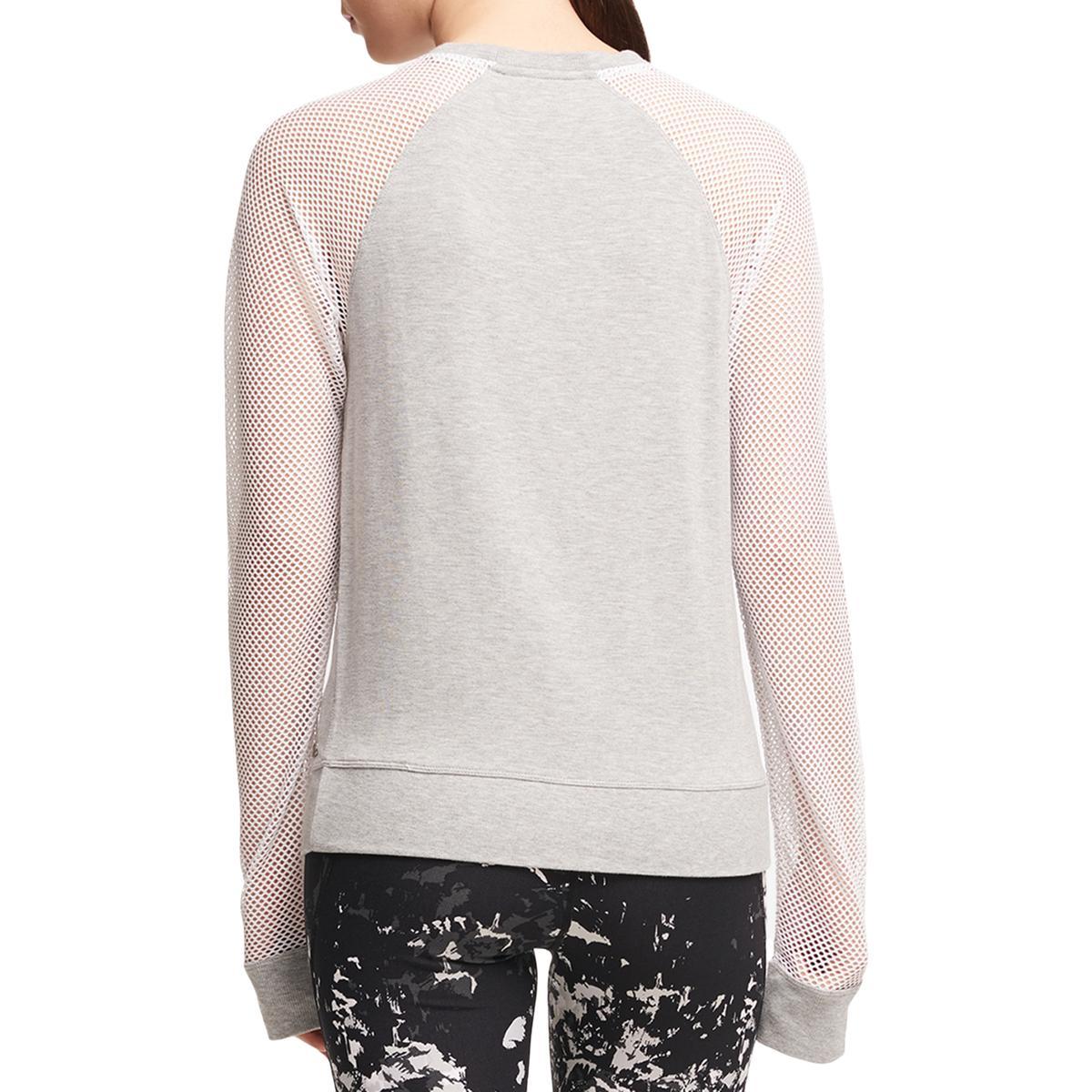 7b48306cf687f Details about DKNY Sport Womens Mesh Sleeve Fitness Sweatshirt