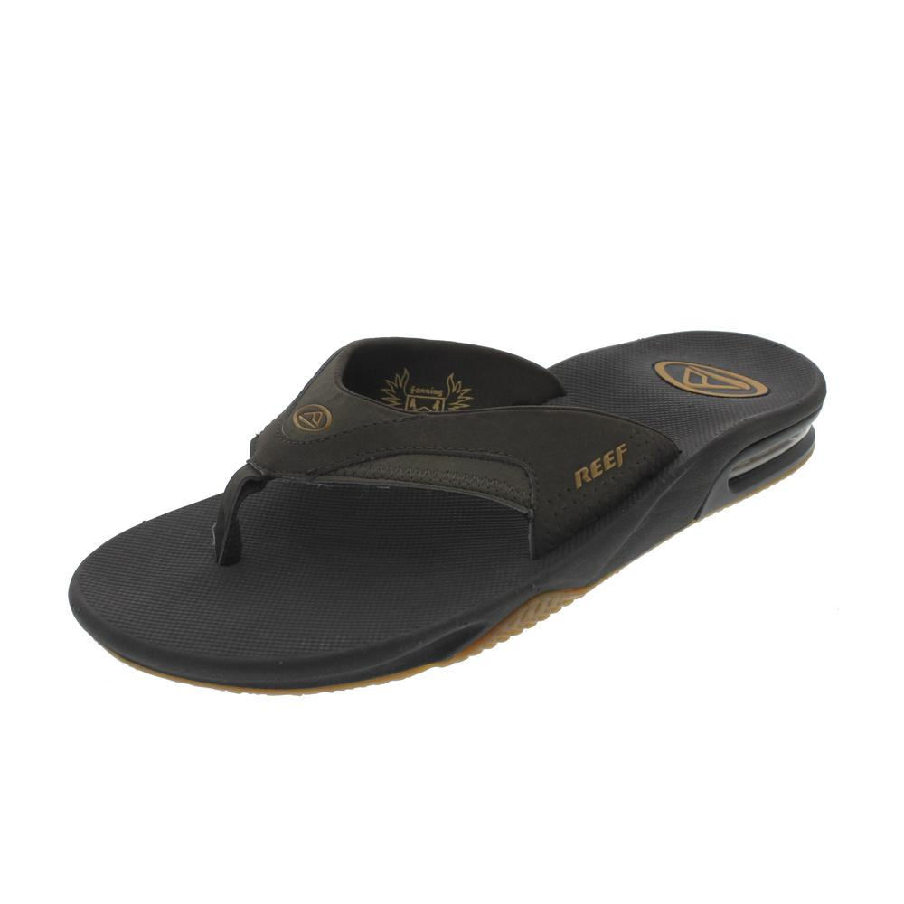 reef new fanning brown bottle opener sole thong shoes flip flops sandals 13 bhfo ebay. Black Bedroom Furniture Sets. Home Design Ideas