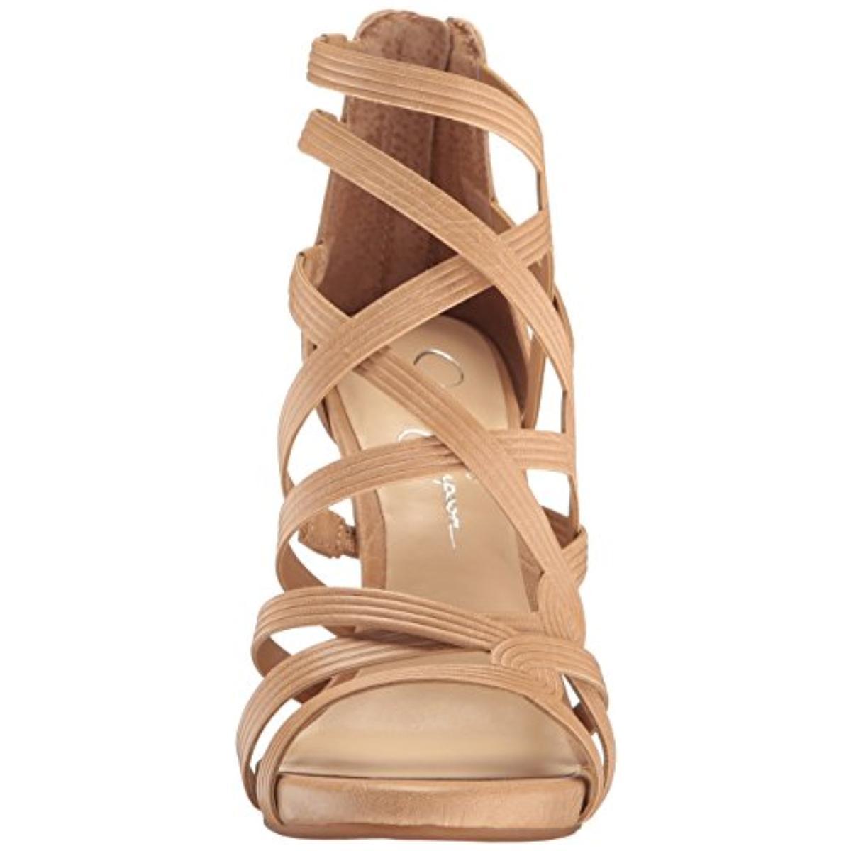 Jessica Simpson Tan Damenschuhe Rainah Tan Simpson Open Toe Heels Schuhes 9 Medium (B,M) BHFO 0219 00ff3b