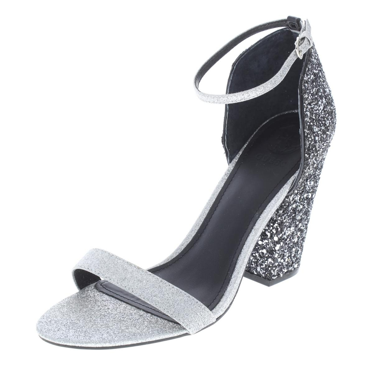 Guess Bam Damenschuhe Bam Bam Guess 3 Glitter Open Toe Block Heel Dress Sandales ... 85556d