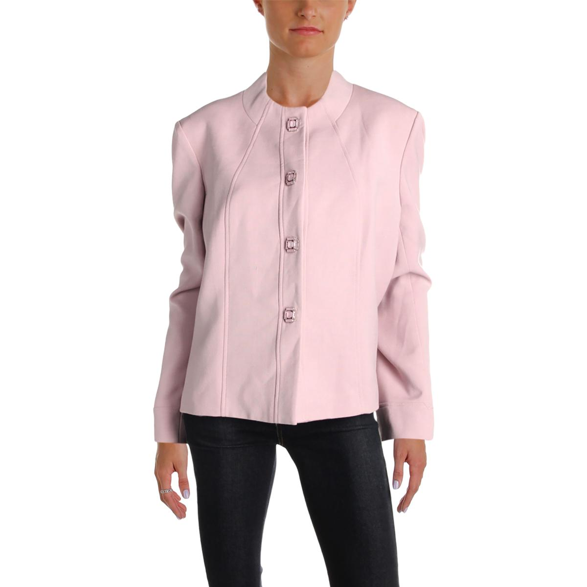 ccb7bf4641de Details about Tahari ASL Womens Pink Textured Four-Button Blazer Jacket  Plus 18 BHFO 2265