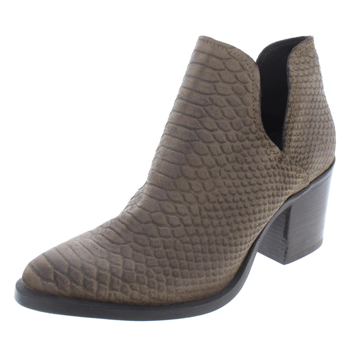 4ff02a839bd Details about Steve Madden Womens Postal Leather Almond Toe Cut-Out Booties  Shoes BHFO 0785