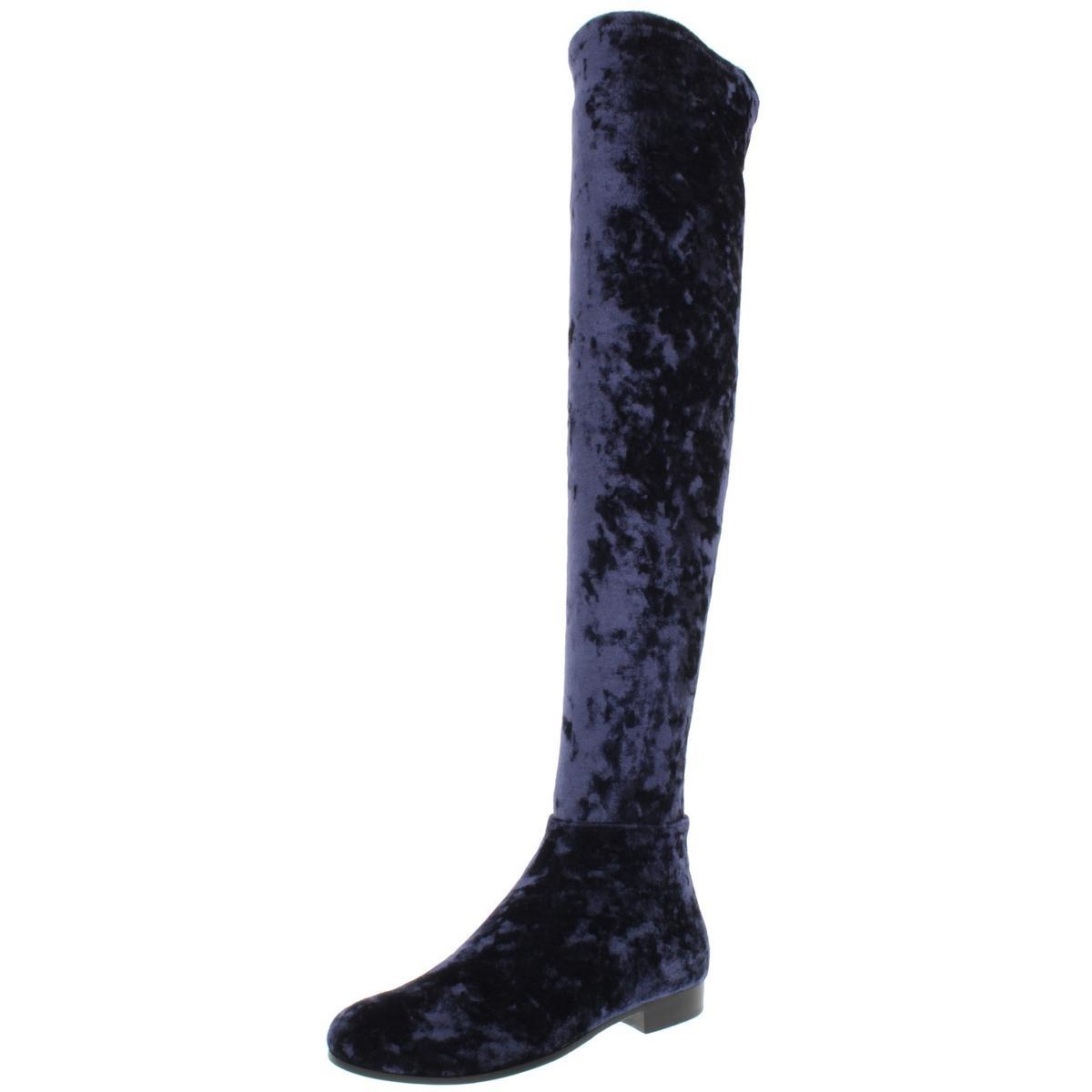 Jimmy-Choo-Womens-Myren-Navy-Over-The-Knee-Boots-Shoes-36-Medium-B-M-BHFO-1167
