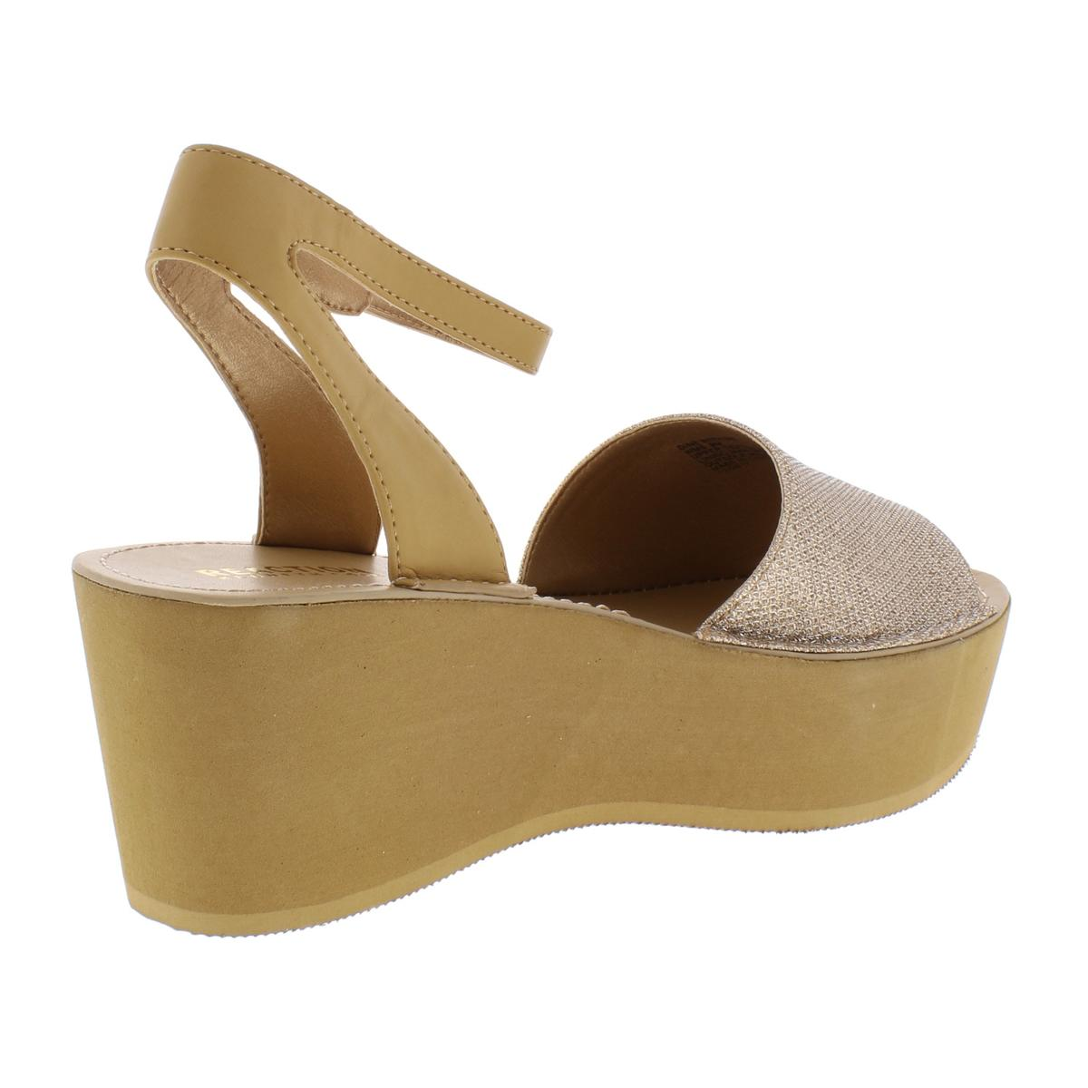 Kenneth-Cole-Reaction-Womens-Dine-With-Me-Shimmer-Wedge-Sandals-Shoes-BHFO-9558 thumbnail 4