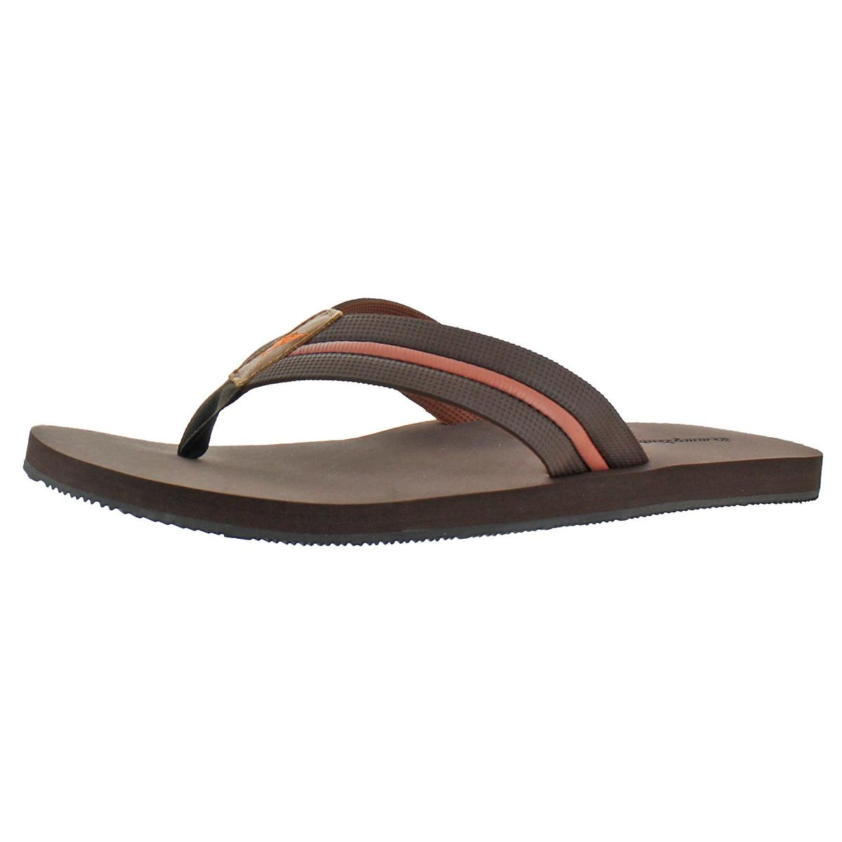 bce9b1c626403 Tommy Bahama Mens Taheeti Flip Flop Dark Brown 14 D US. About this product.  Picture 1 of 6  Picture 2 of 6  Picture 3 of 6  Picture 4 of 6