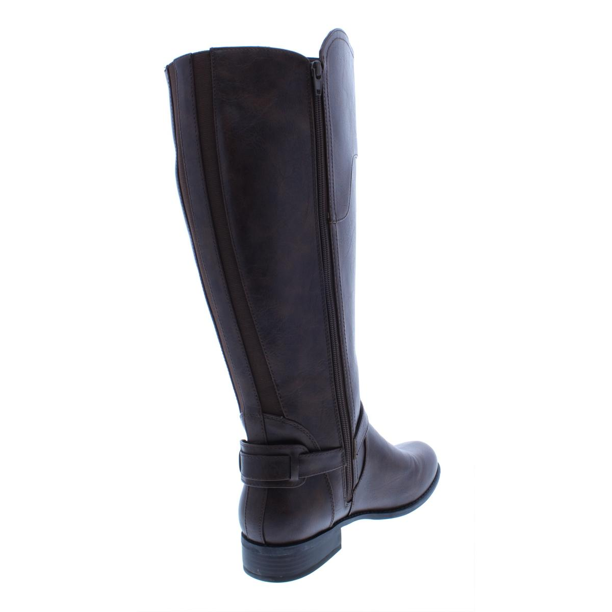 Womens Venesa Wide Calf Faux Leather Riding Boots Style /& Co
