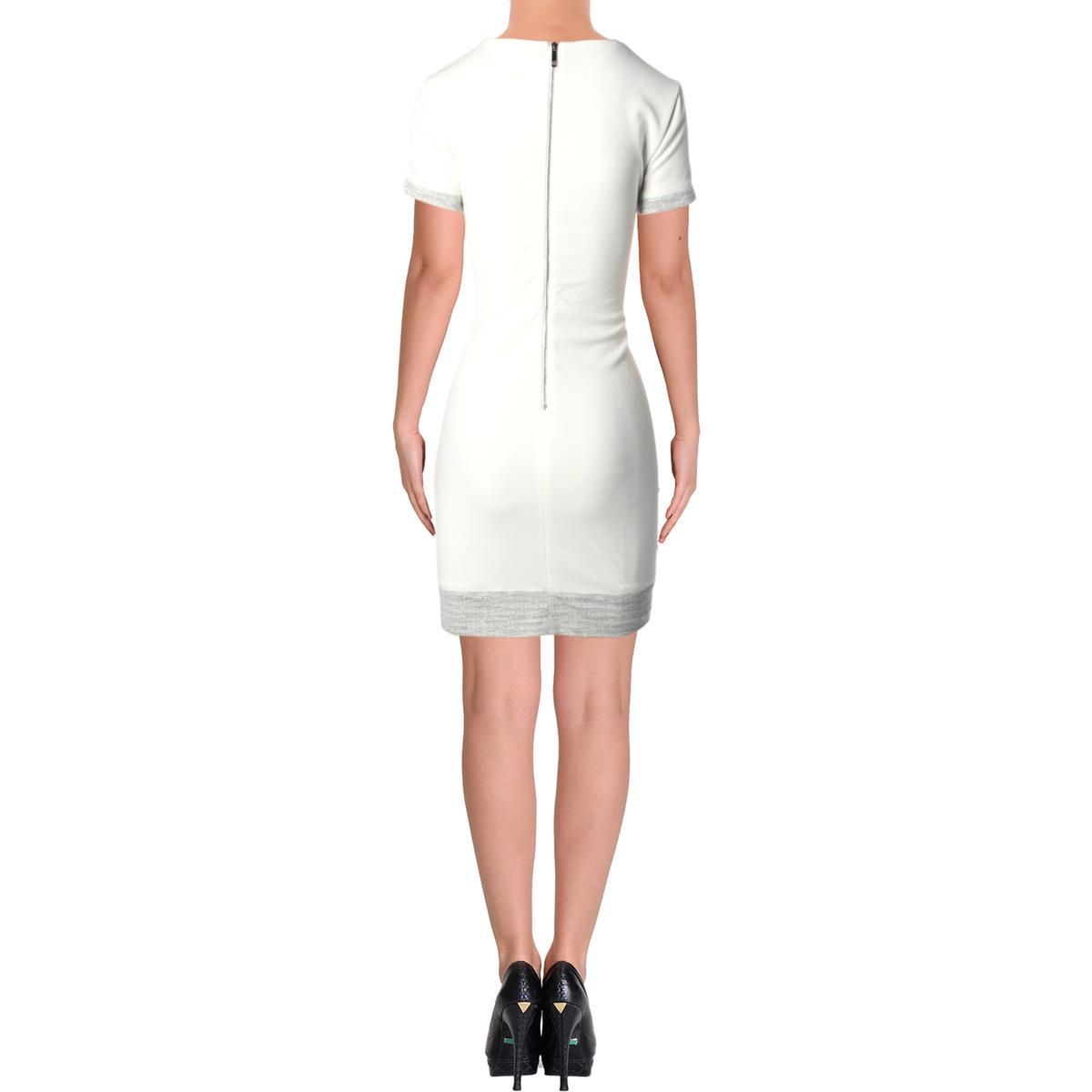 cc3919d258e86 Tommy Hilfiger Womens Ivory Metallic Office Wear Wear to Work Dress ...