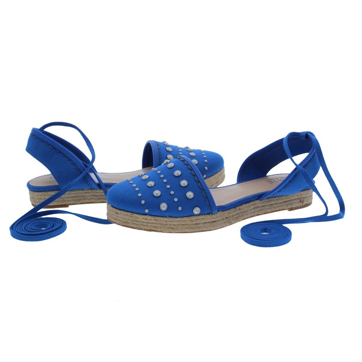 IMNYC-Isaac-Mizrahi-Womens-Hilda-Canvas-Flat-Sandals-Espadrilles-Shoes-BHFO-2640 thumbnail 10