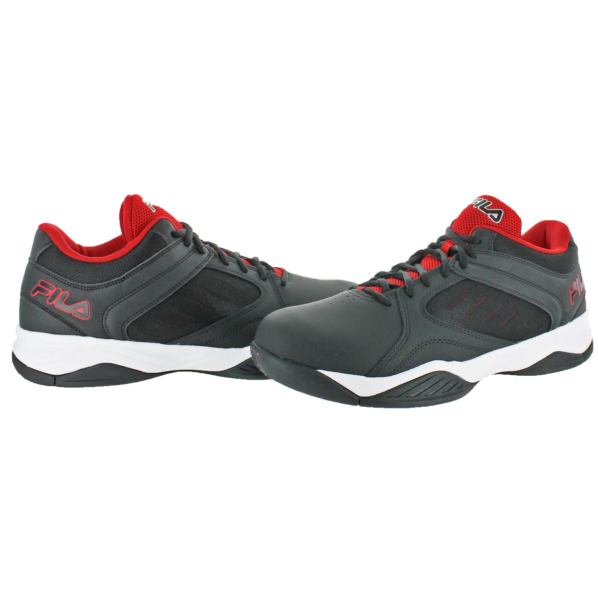 Fila-Men-039-s-Bank-Casual-Lace-Up-Low-Top-Court-Basketball-Athletic-Shoes thumbnail 3