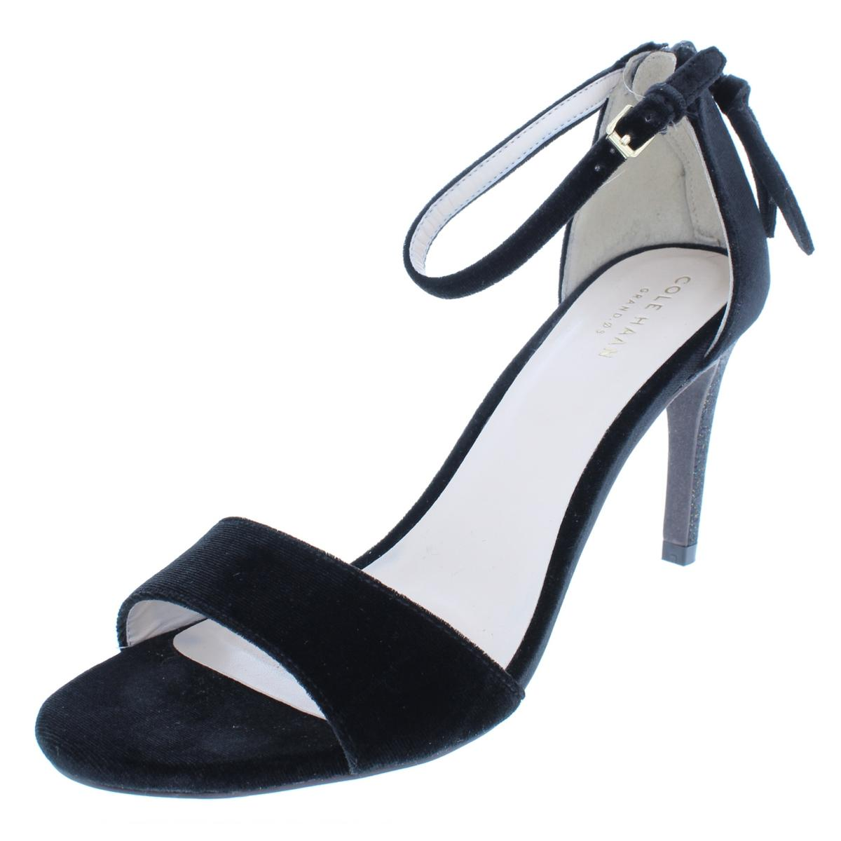 ef1e75f8ad60 Details about Cole Haan Womens Clara Grand Sandal 85mm Black Dress Sandals  7 Medium (B