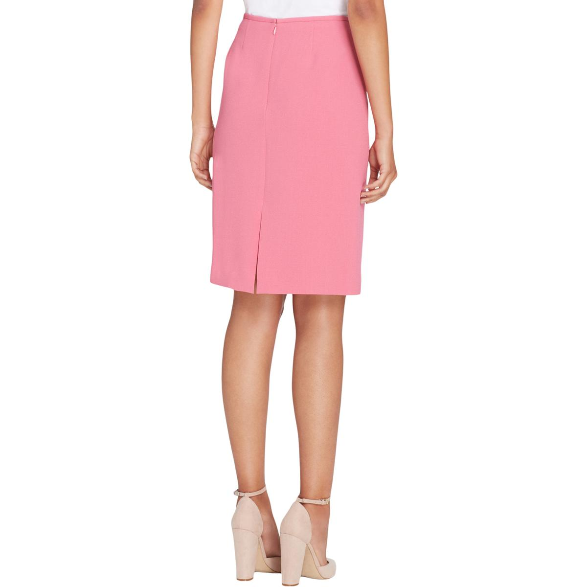 9994b668ea9 Details about Tahari ASL Womens Pink Ponte Knit Professional Pencil Skirt  Plus 18 BHFO 3985