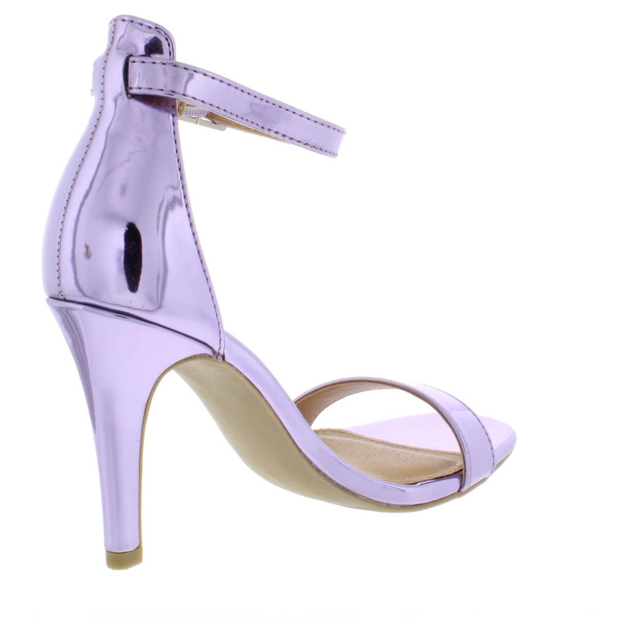 Material-Girl-Womens-Blaire-6-Patent-Mirrored-Dress-Heels-Sandals-BHFO-4127 thumbnail 4