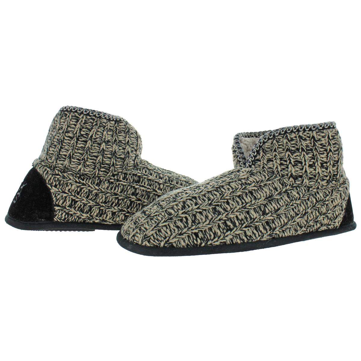 Mukluks-Men-039-s-Mark-Sweater-Knit-Furpa-Ankle-Bootie-House-Slippers thumbnail 34