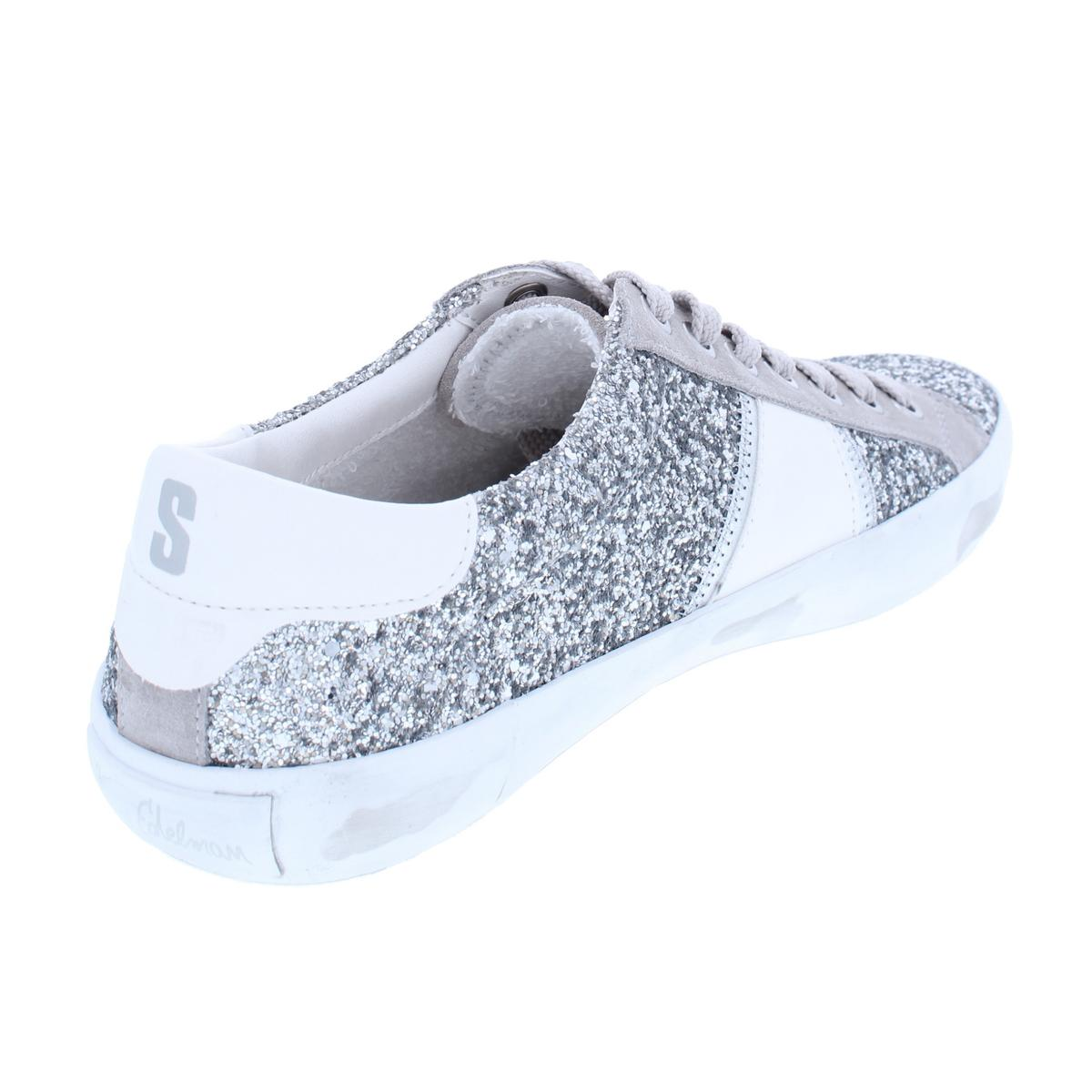 32fc2d97c9213 Sam Edelman Womens Baylee Glitter Low Fashion Sneakers Shoes BHFO ...