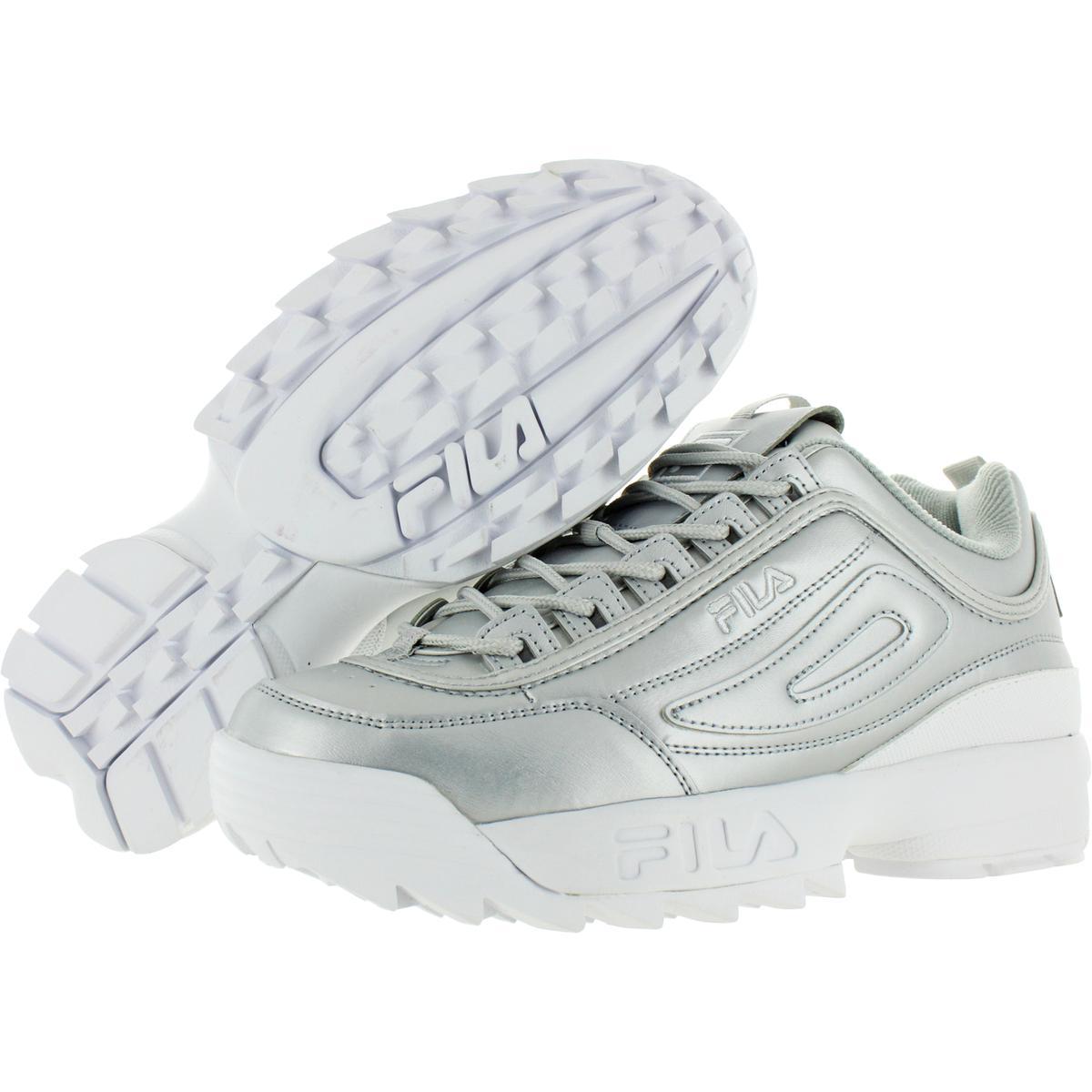 Fila-Womens-Disruptor-II-Premium-Metallic-Trainers-Sneakers-Shoes-BHFO-5237 thumbnail 8