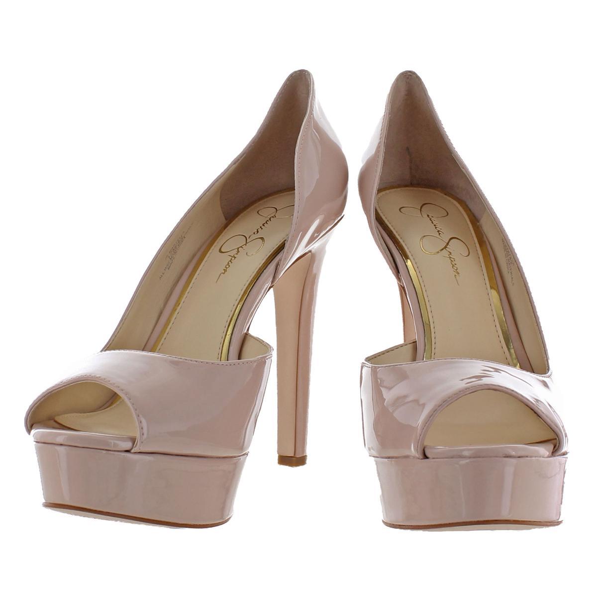 Jessica-Simpson-Martella-Women-039-s-Almond-Peep-Toe-Stiletto-d-039-Orsay-Heels-Shoes thumbnail 3