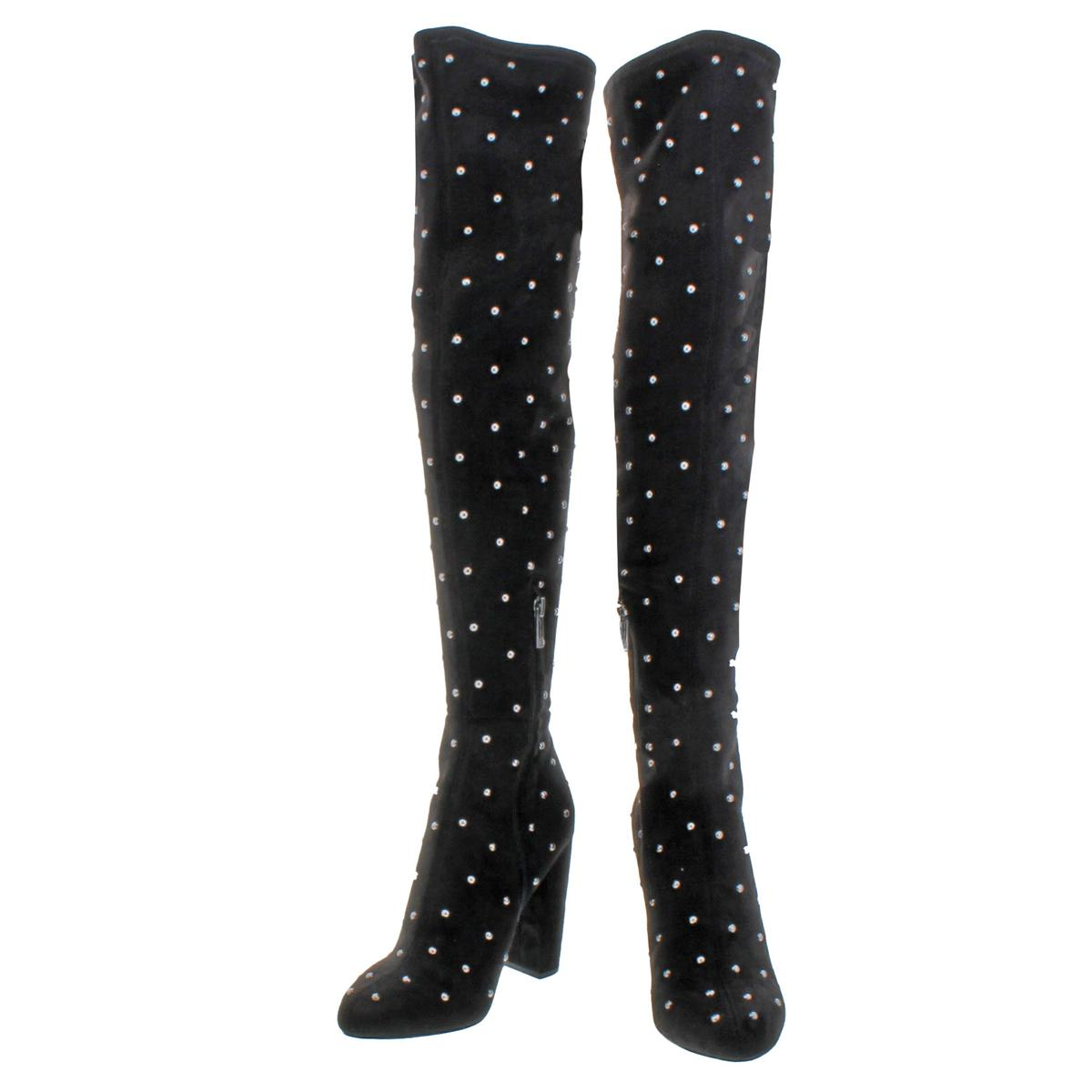 492e940c839 Jessica Simpson Bressy Women s Microsuede Studded Over The Knee ...