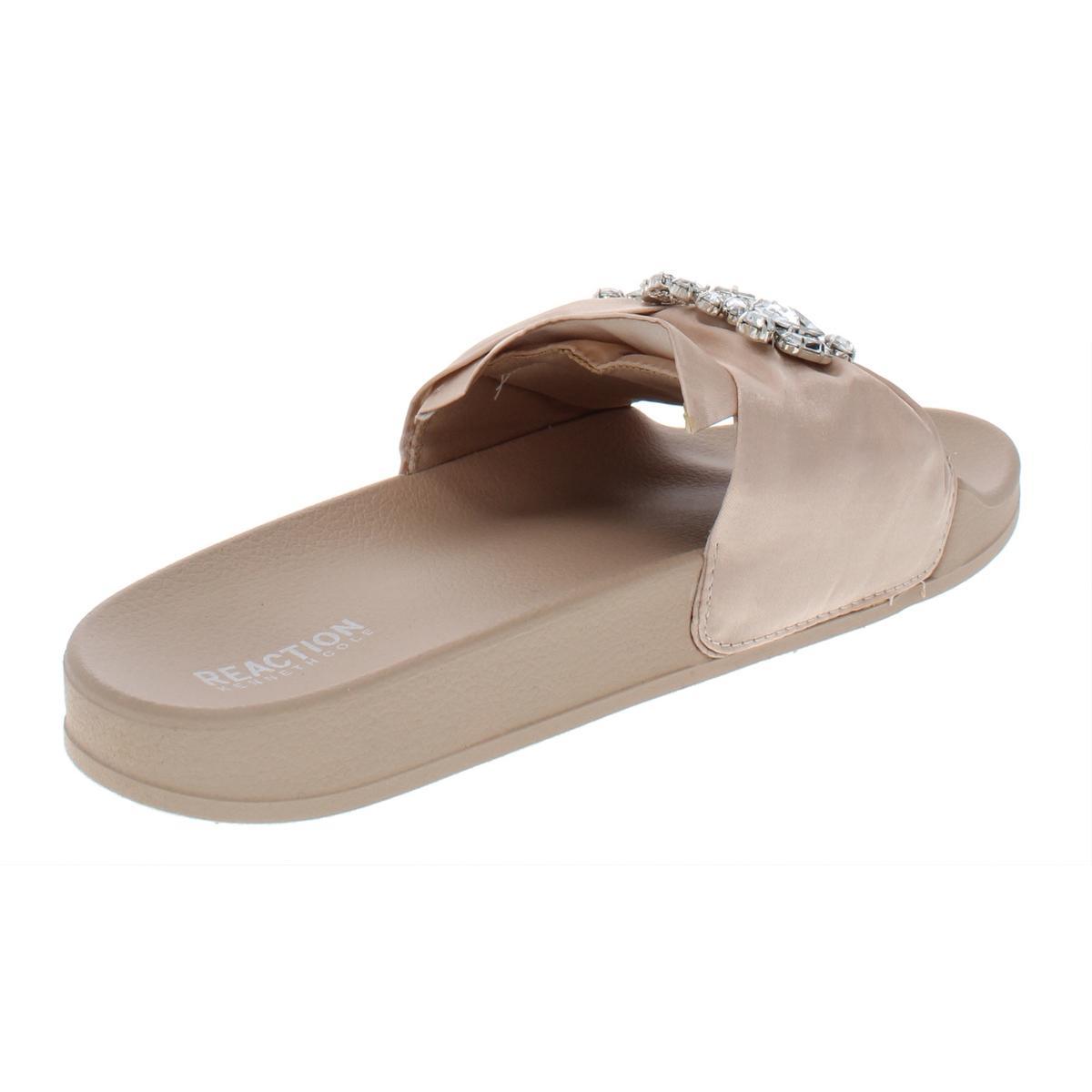 Kenneth-Cole-Reaction-Womens-Pool-Jewel-Satin-Slide-Sandals-Flats-BHFO-7076 thumbnail 4