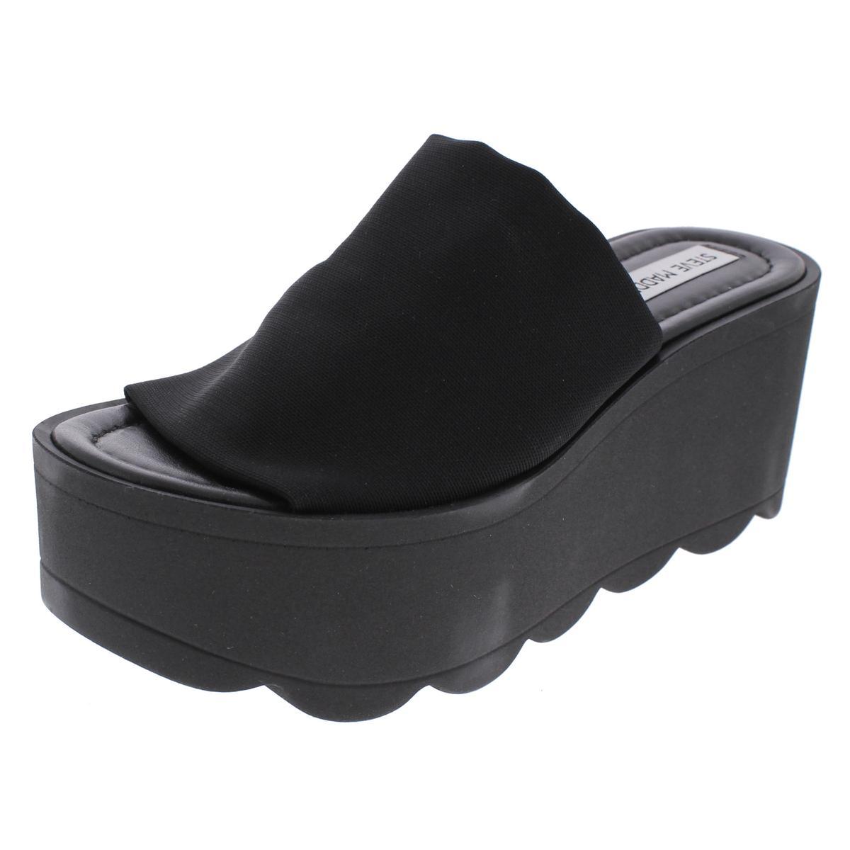 8c114c0532e Details about Steve Madden Womens Daniele Black Platform Sandals 9 Medium  (B