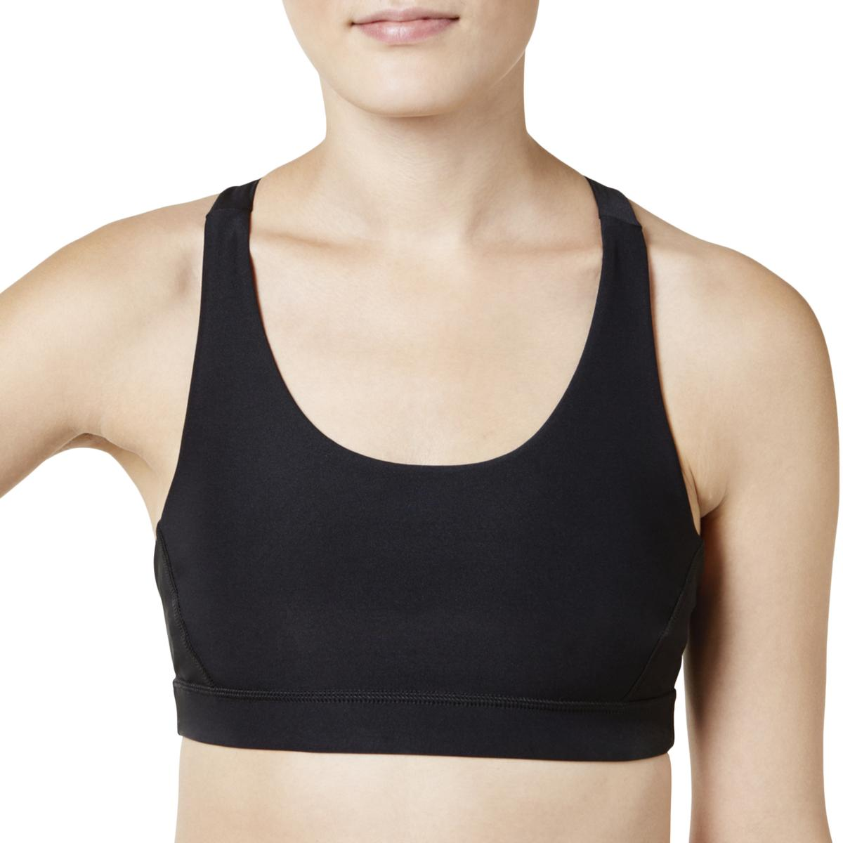 f46fb775e2164 Details about Ideology Womens Mid Impact Seamless Fitness Sports Bra  Athletic BHFO 5400
