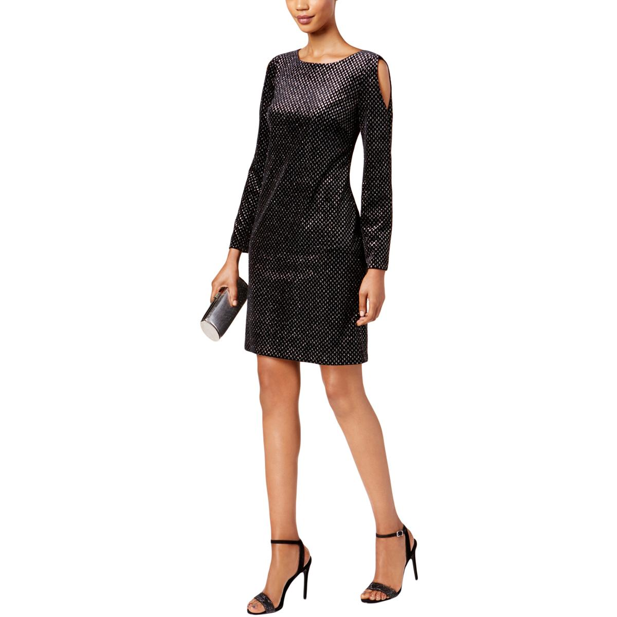 aff4b962af109 Jessica Howard Womens Missy Black Velvet Cocktail Dress Evening 12 ...