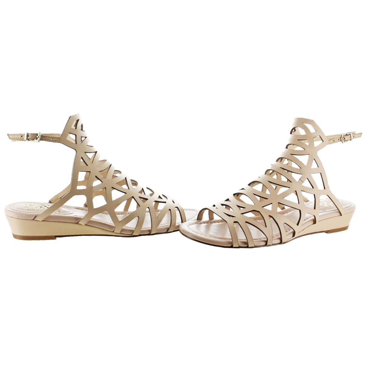Vince-Camuto-Illana-Women-039-s-Leather-Strappy-Slingback-Caged-Sandal-Shoes thumbnail 10