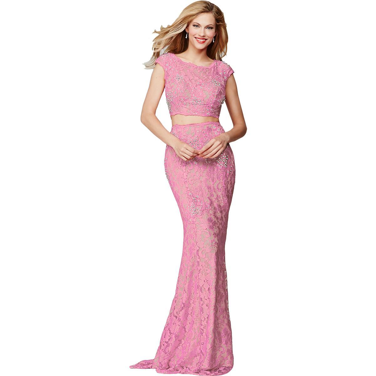 Jovani 8837 2PC Lace Prom Crop Top Dress Gown BHFO   eBay