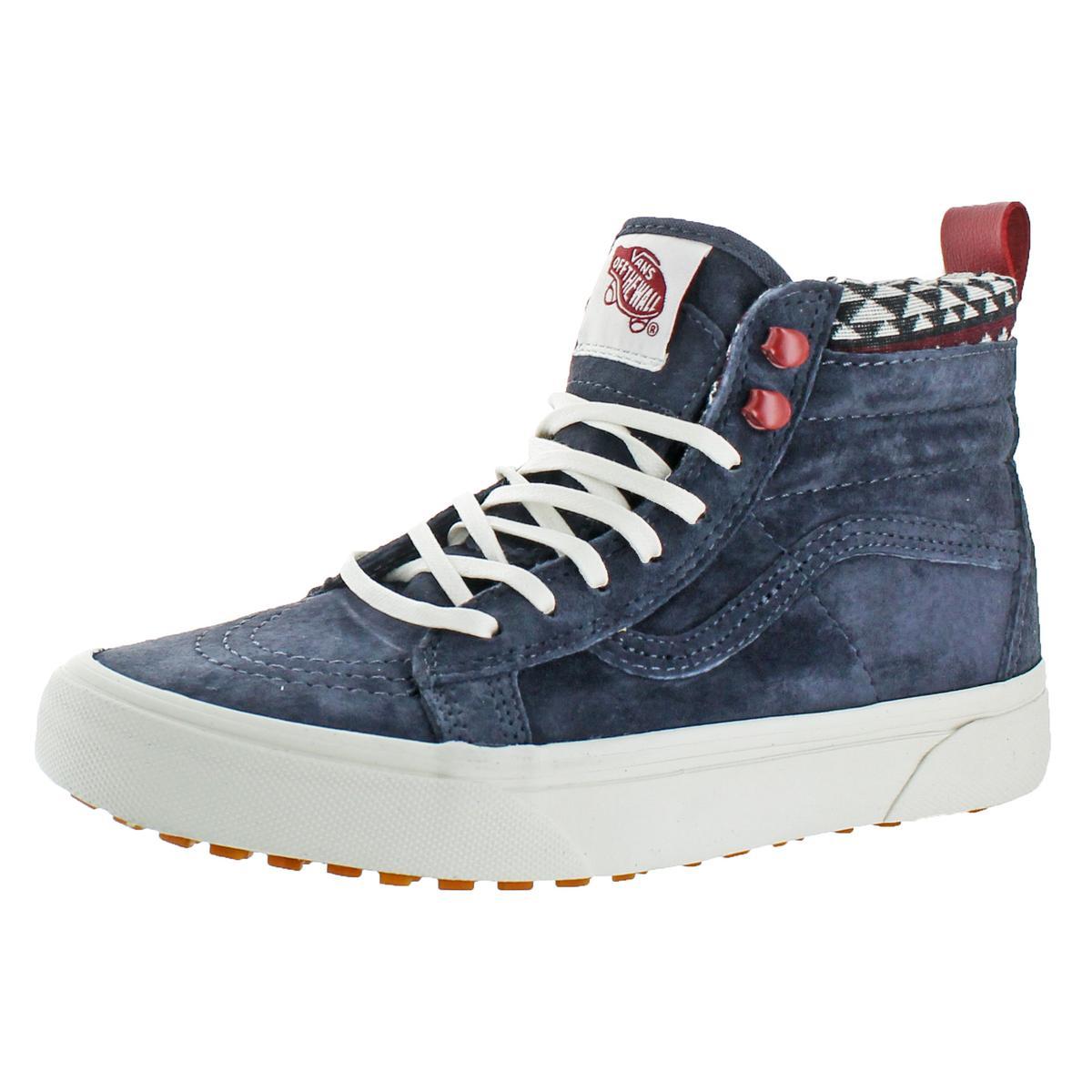 2bcc4e5dea9 Details about Vans Womens SK8-HI MTE Suede High Top Skate Shoes Blue 6  Medium (B