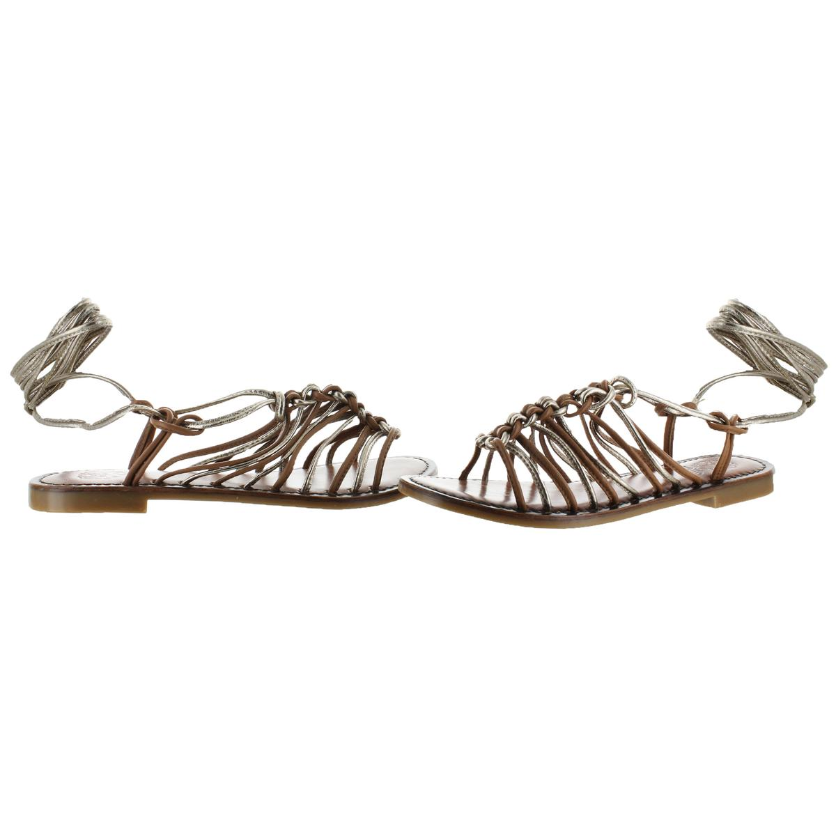 Vince-Camuto-Layla-Women-039-s-Leather-Strappy-Braided-Trendy-Gladiator-Sandal-Shoes thumbnail 4