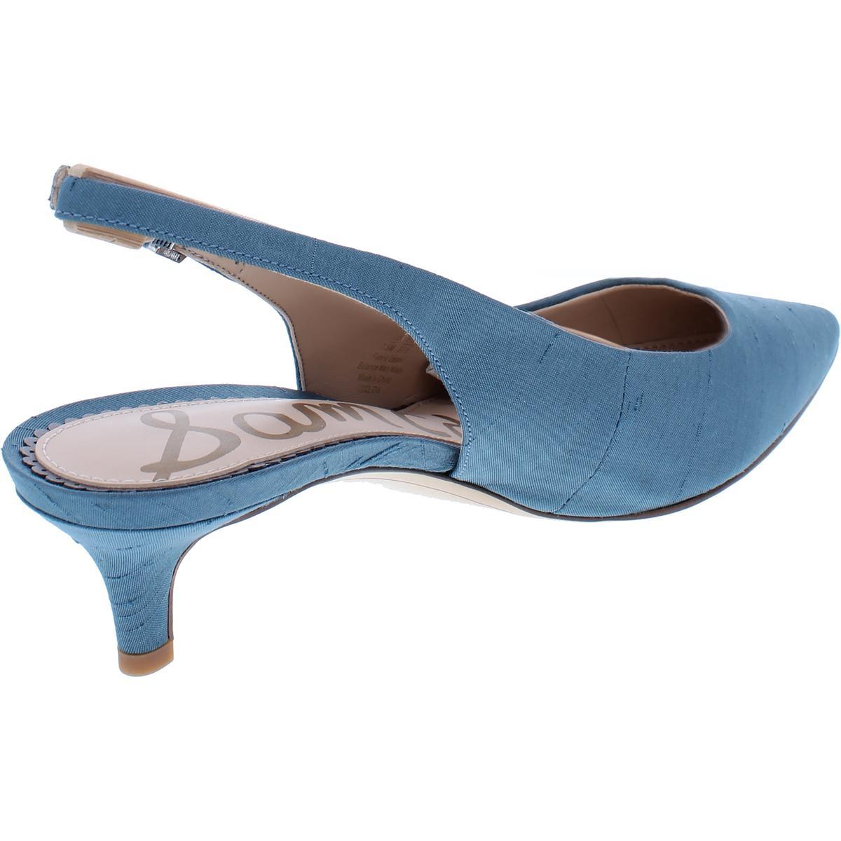 8d670a08676 Sam Edelman Womens Ludlow Blue Slingback HEELS Shoes 8.5 Medium (b M ...