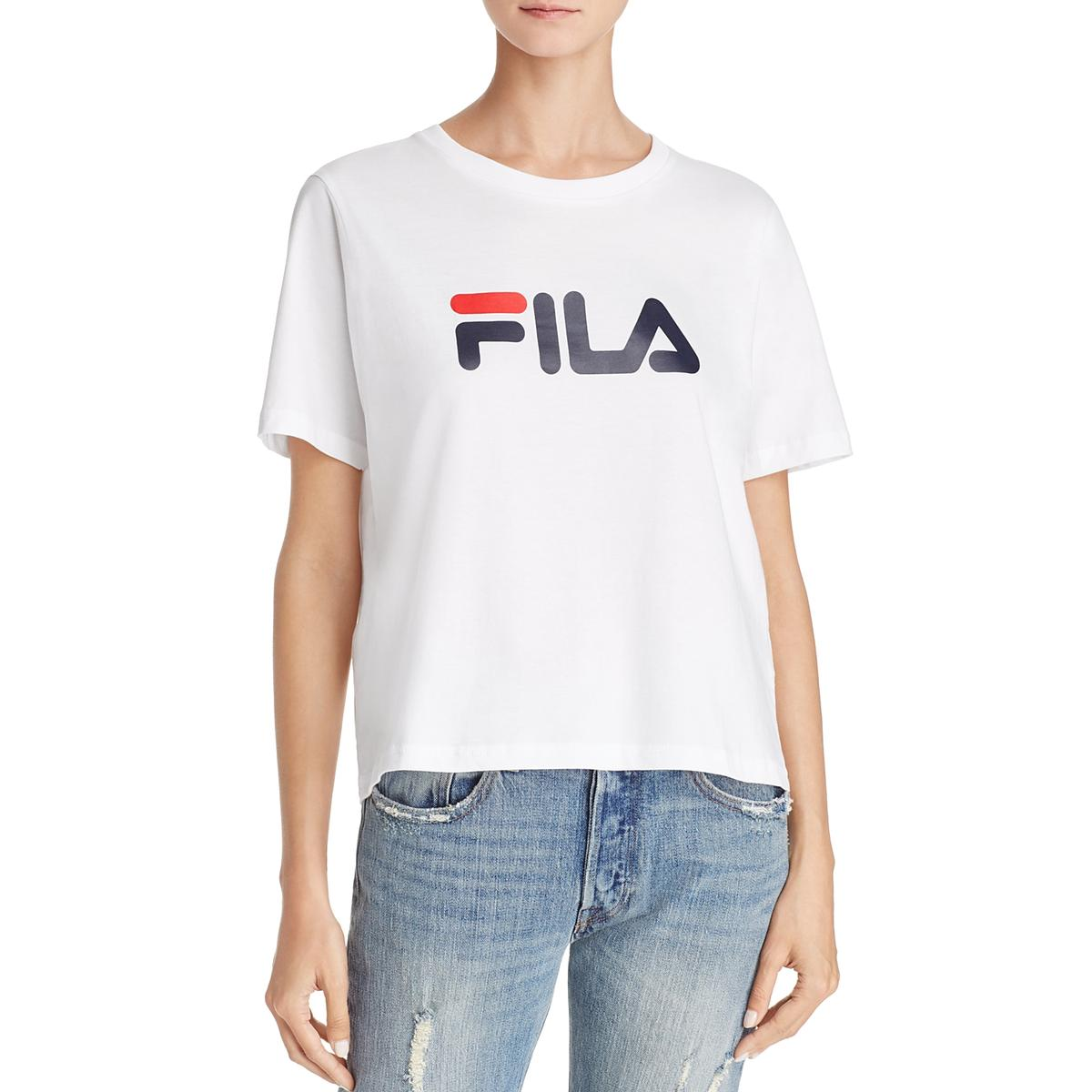 27015bb4cb Details about Fila Womens Eagle White Yoga Fitness Running T-Shirt Athletic  L BHFO 8853