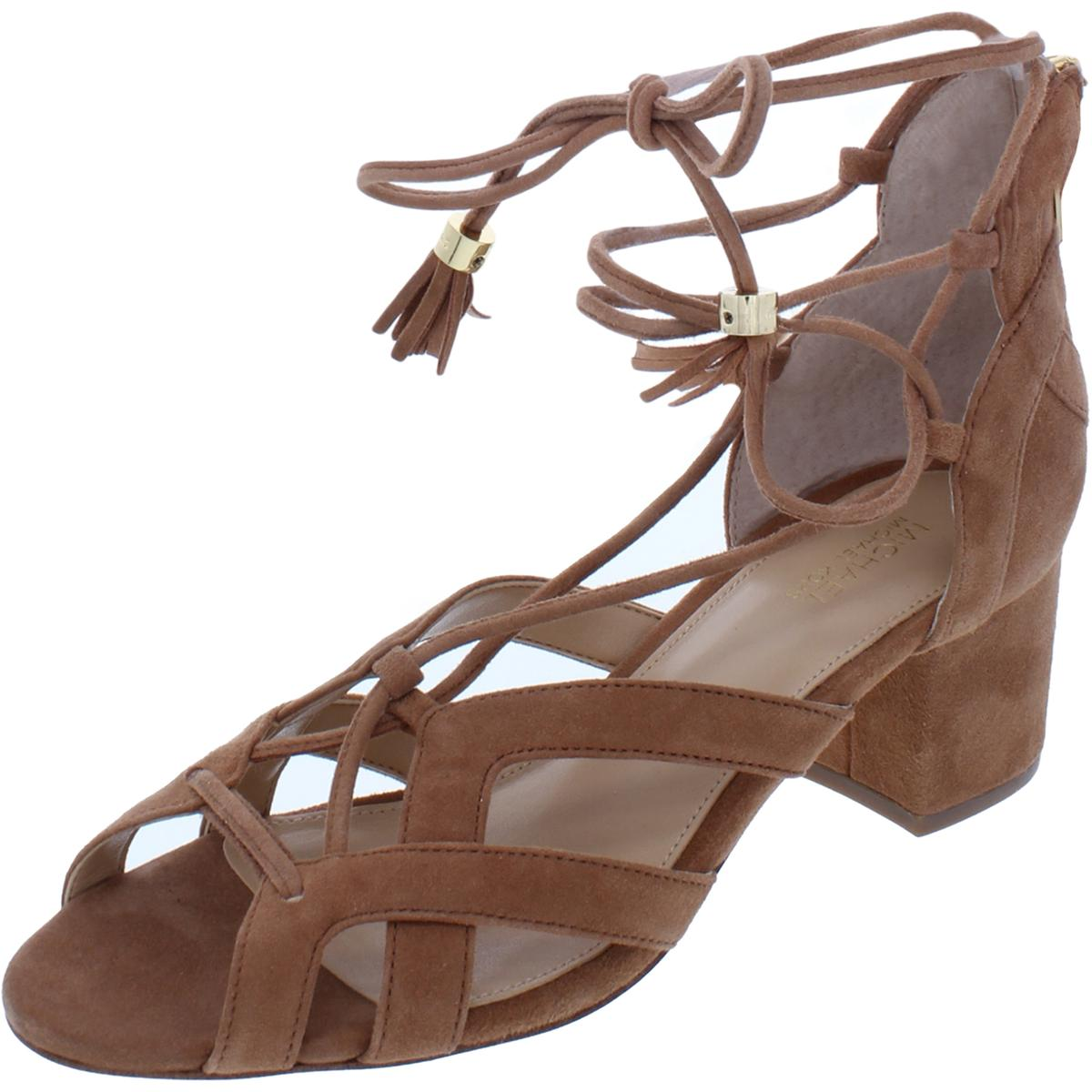 d25417ebe9c2aa Details about MICHAEL Michael Kors Womens Mirabel Brown Dress Sandals 6  Medium (B