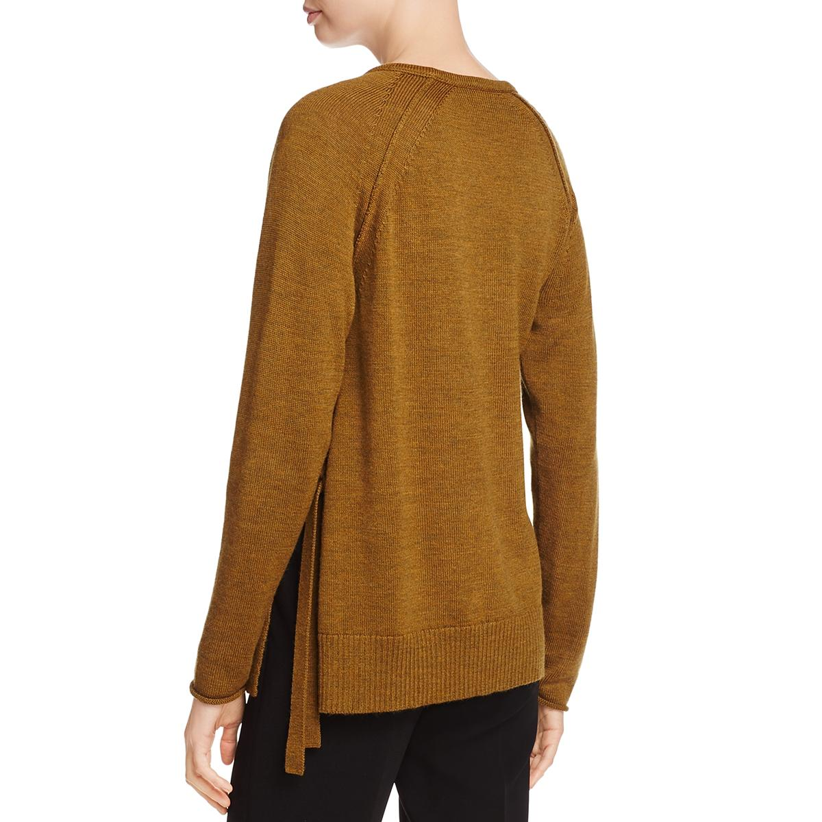 49fe76f3eb6 Eileen Fisher Womens Merino Wool Long Sleeves Pullover Sweater Top ...