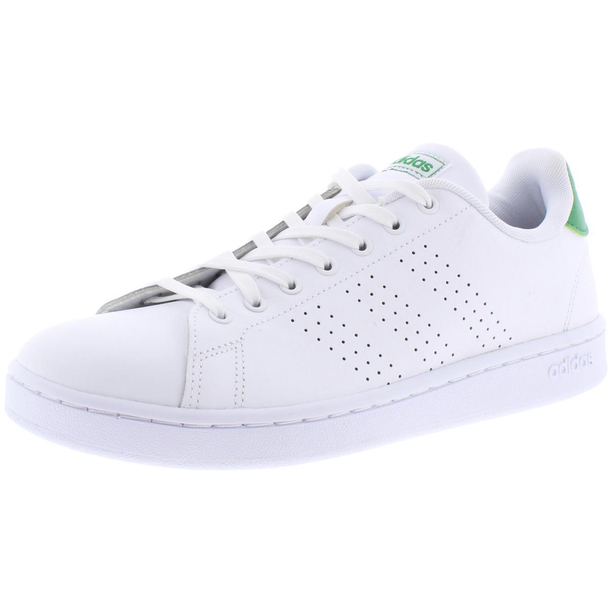 Adidas Mens Advantage White Tennis Shoes Sneakers 10.5 Mediu
