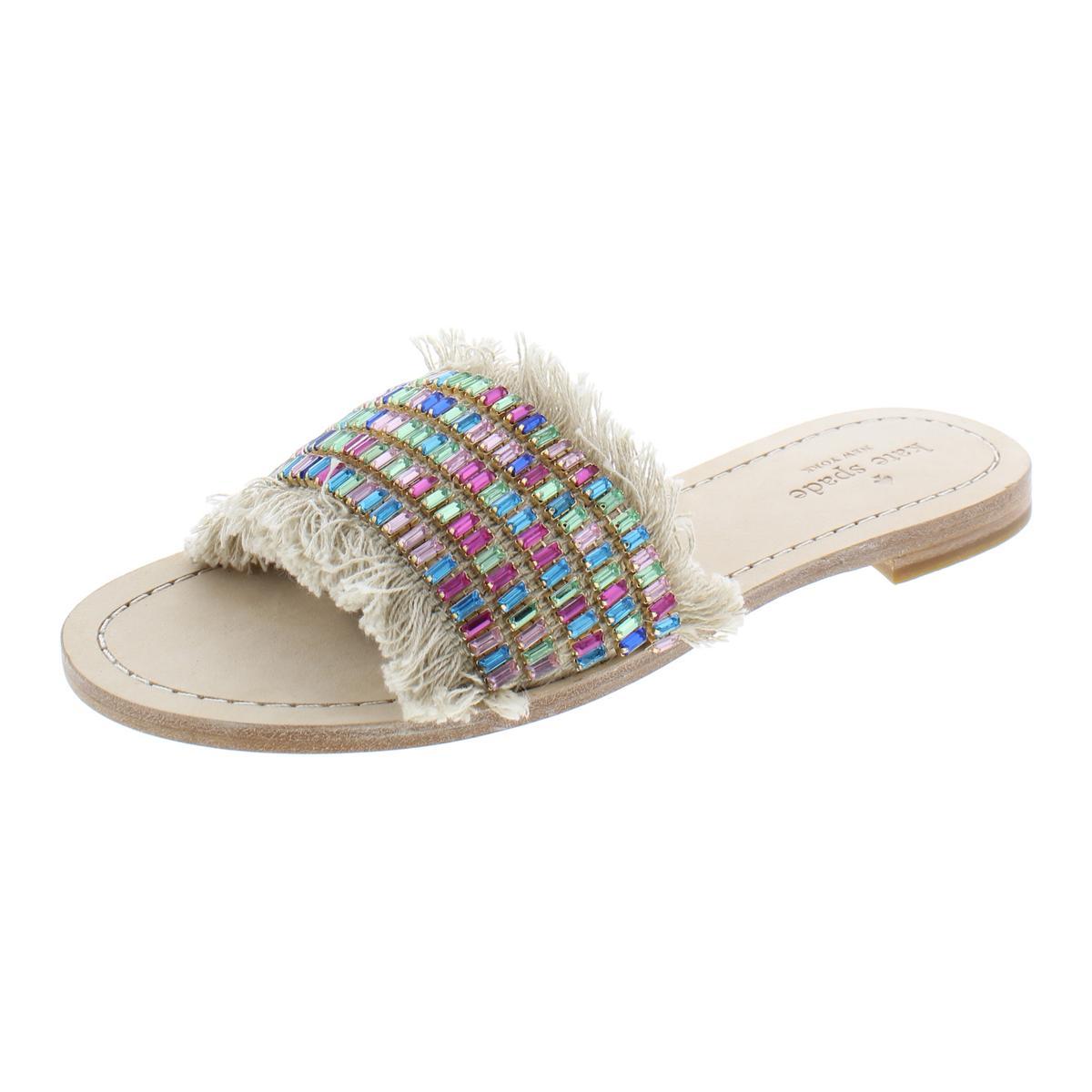 949e0b31ab83 Details about Kate Spade Womens Solaina Tan Casual Flat Sandals Shoes 8  Medium (B,M) BHFO 1070