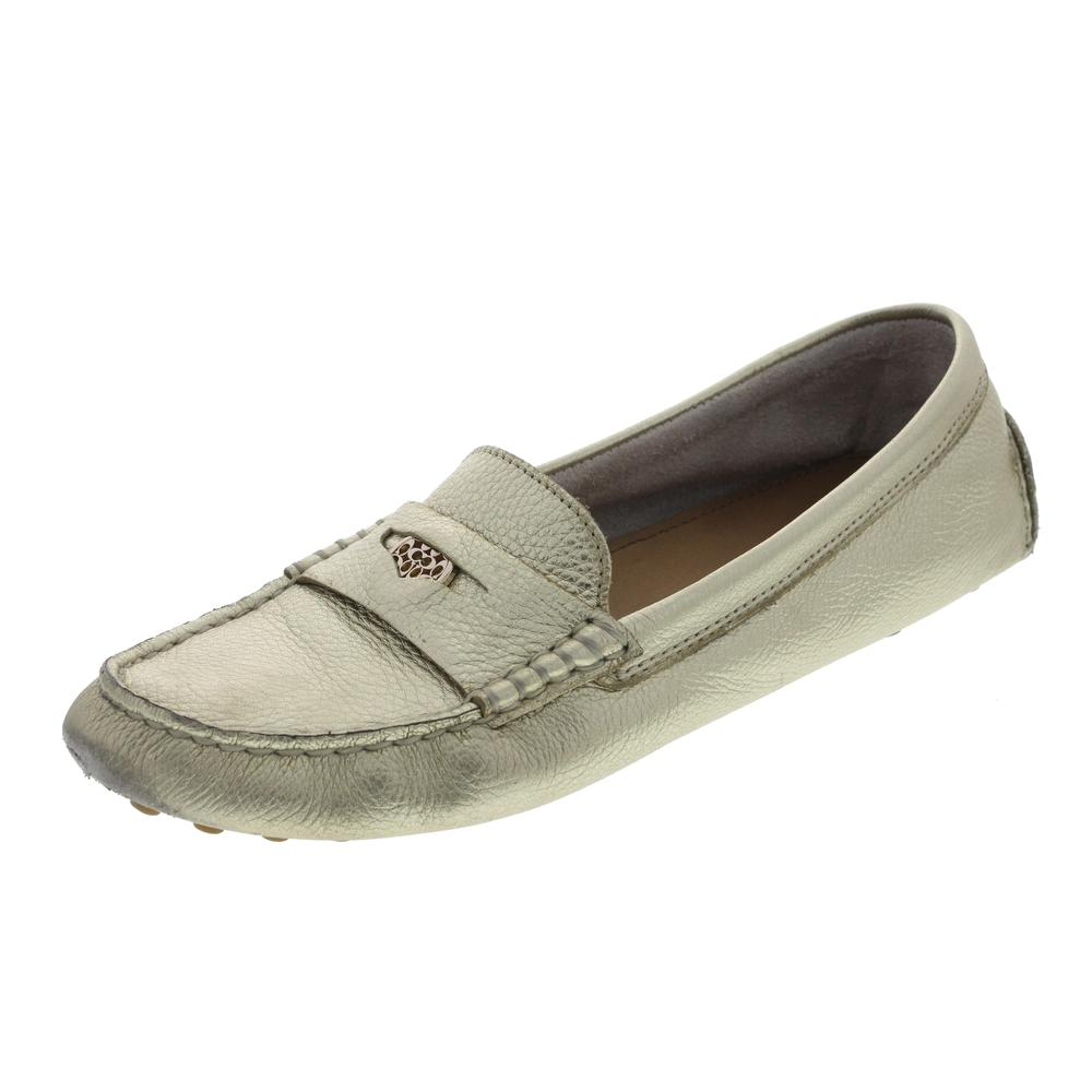 Coach Nicola Metallic Textured Loafers 8 5 BHFO | eBay