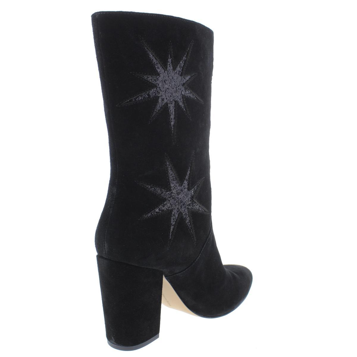 Avec Les Filles Women's Nikita Suede Embellished Chucky Heel Heel Heel Ankle Bootie 53c87a