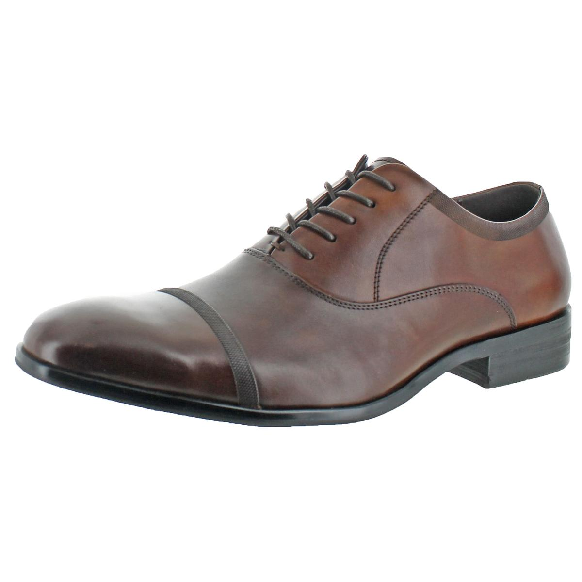 Kenneth Cole Reaction Mens DESIGN21181 Brown Oxfords 10.5 Medium (D) BHFO 2794