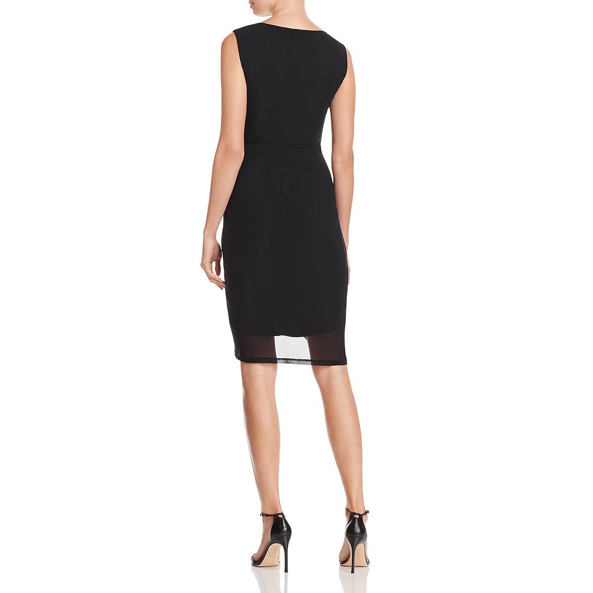 b77cb0e0c27f Details about T Tahari Womens Bellini Black Twist Front Party Cocktail Dress  XL BHFO 8721