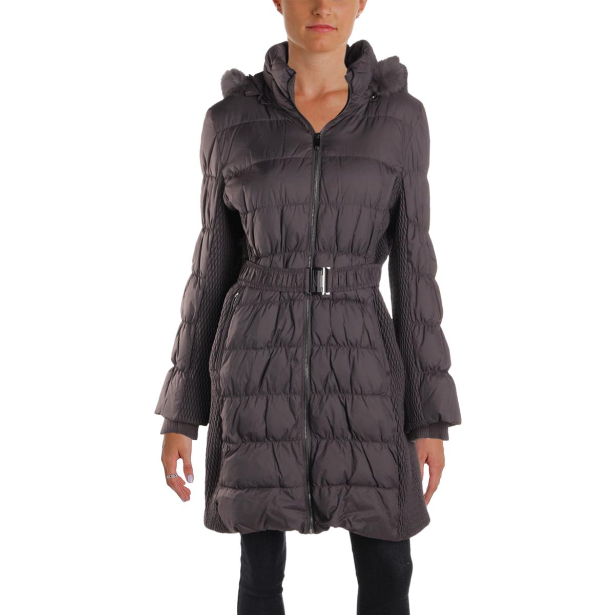 Via-Spiga-Womens-Winter-Down-Rabbit-Fur-Parka-Coat-Outerwear-BHFO-0865 thumbnail 5