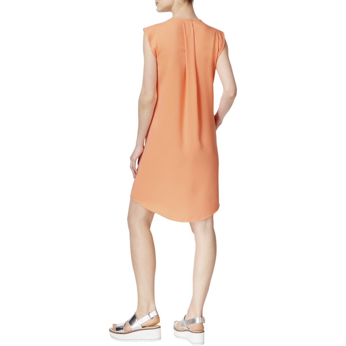 On The Road Womens Orange Chambray Sleeveless Casual Tank Dress XS BHFO 9538