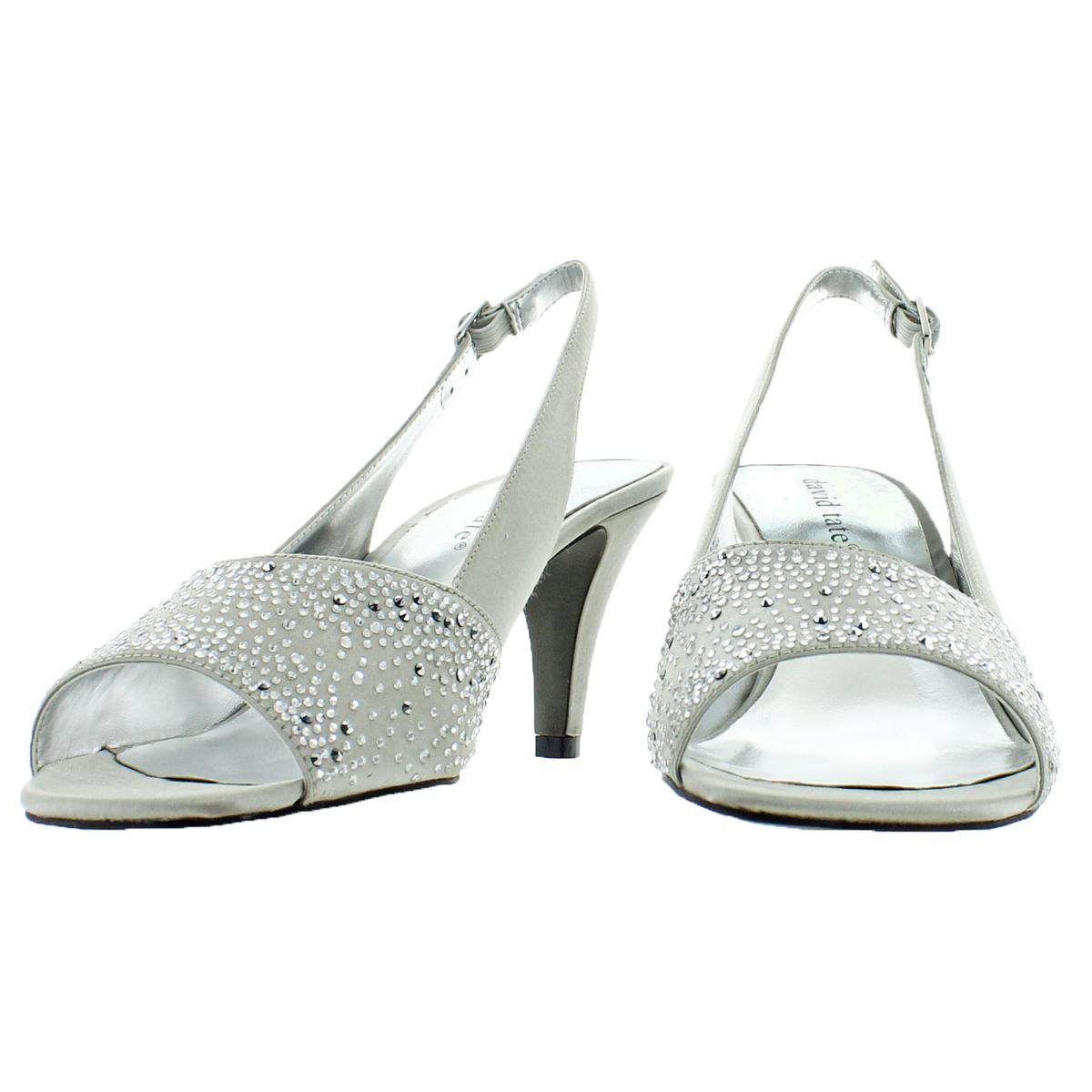 David-Tate-Women-039-s-Stunning-Satin-Embellished-Slingback-Dress-Pump thumbnail 13