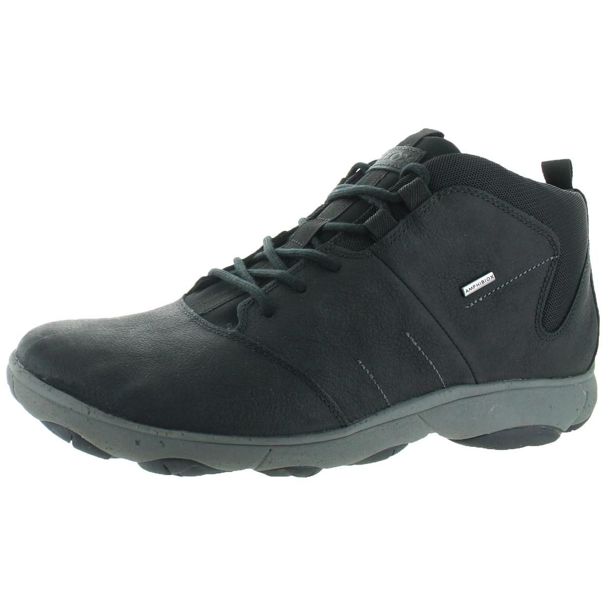 2e6adc5e2b Details about Geox Nebula ABX Men's Leather Waterproof Ankle Boots Black  Size 12