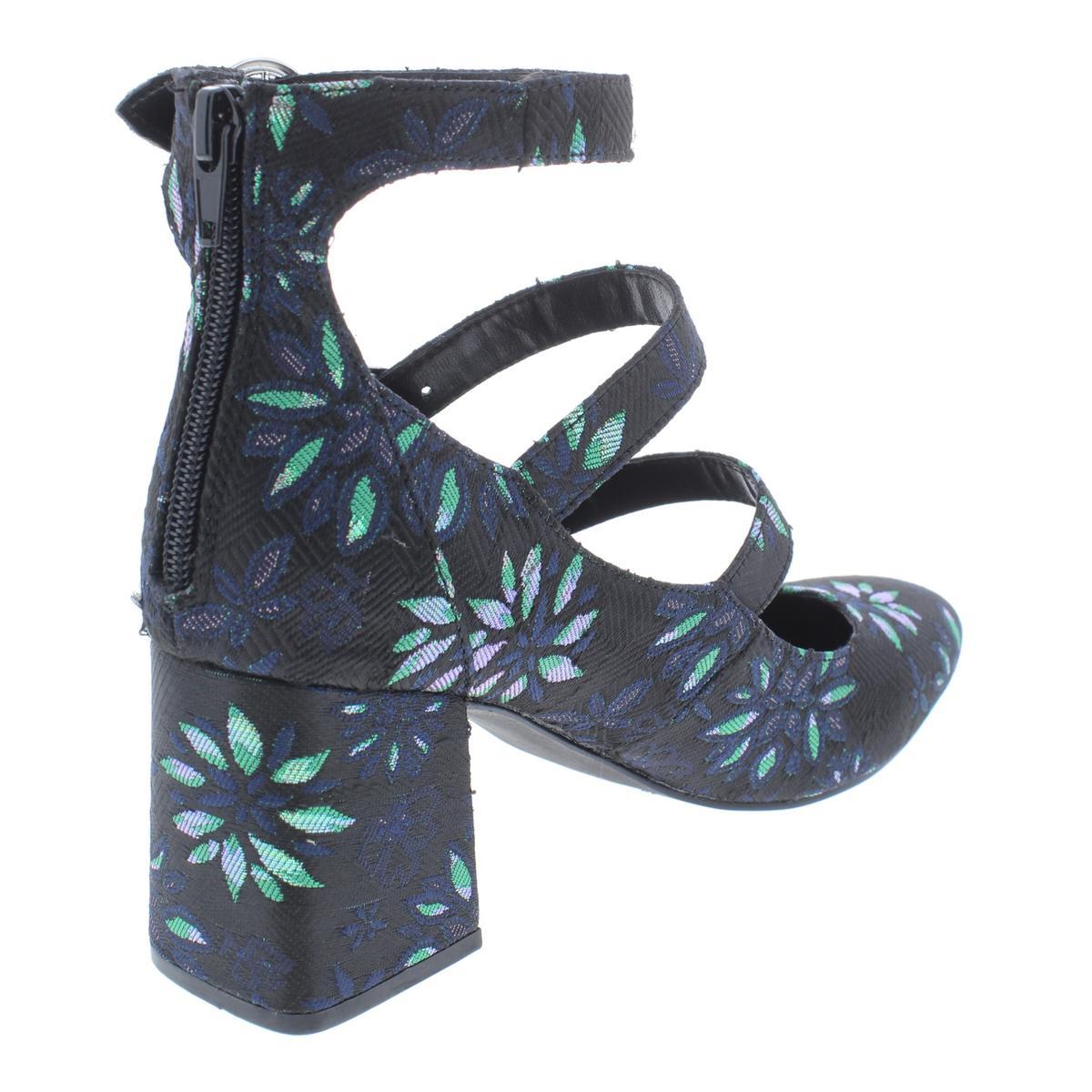Indigo-Rd-Womens-Jallen-Crushed-Velvet-Dress-Block-Heels-Shoes-BHFO-6024 thumbnail 6