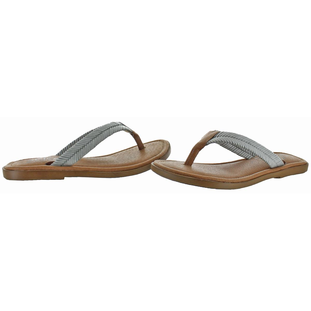 Sbicca-Elonara-Women-039-s-Leather-Slip-On-Chevron-Braided-Thong-Sandals-Shoes thumbnail 7