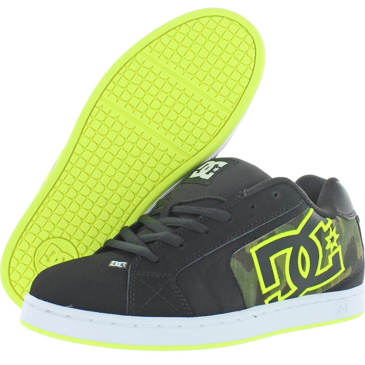 DC Shoes Mens Net SE Leather Trainers Skateboarding Shoes ...