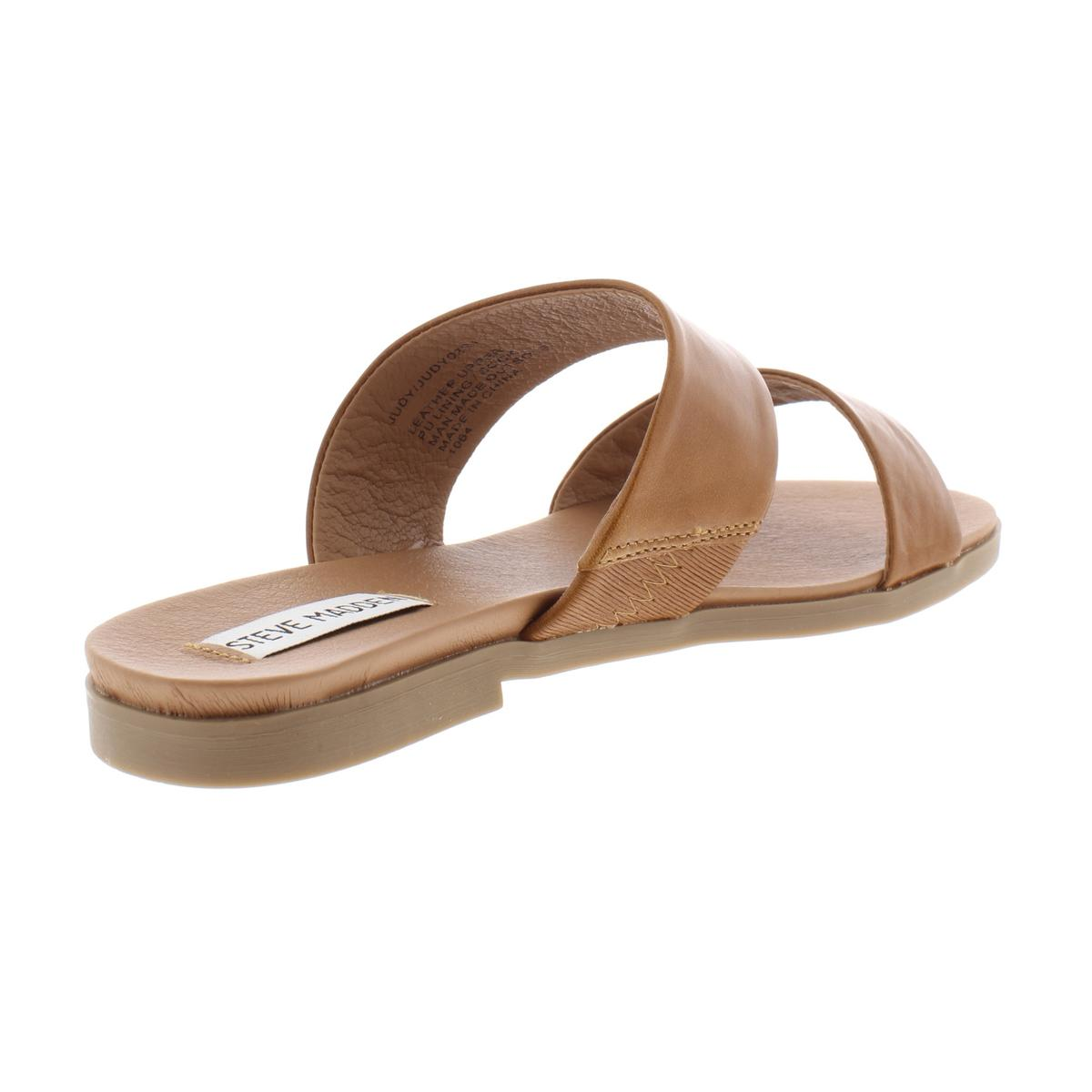 Steve-Madden-Womens-Judy-Leather-Sandals-Flats-Shoes-BHFO-7653 thumbnail 6
