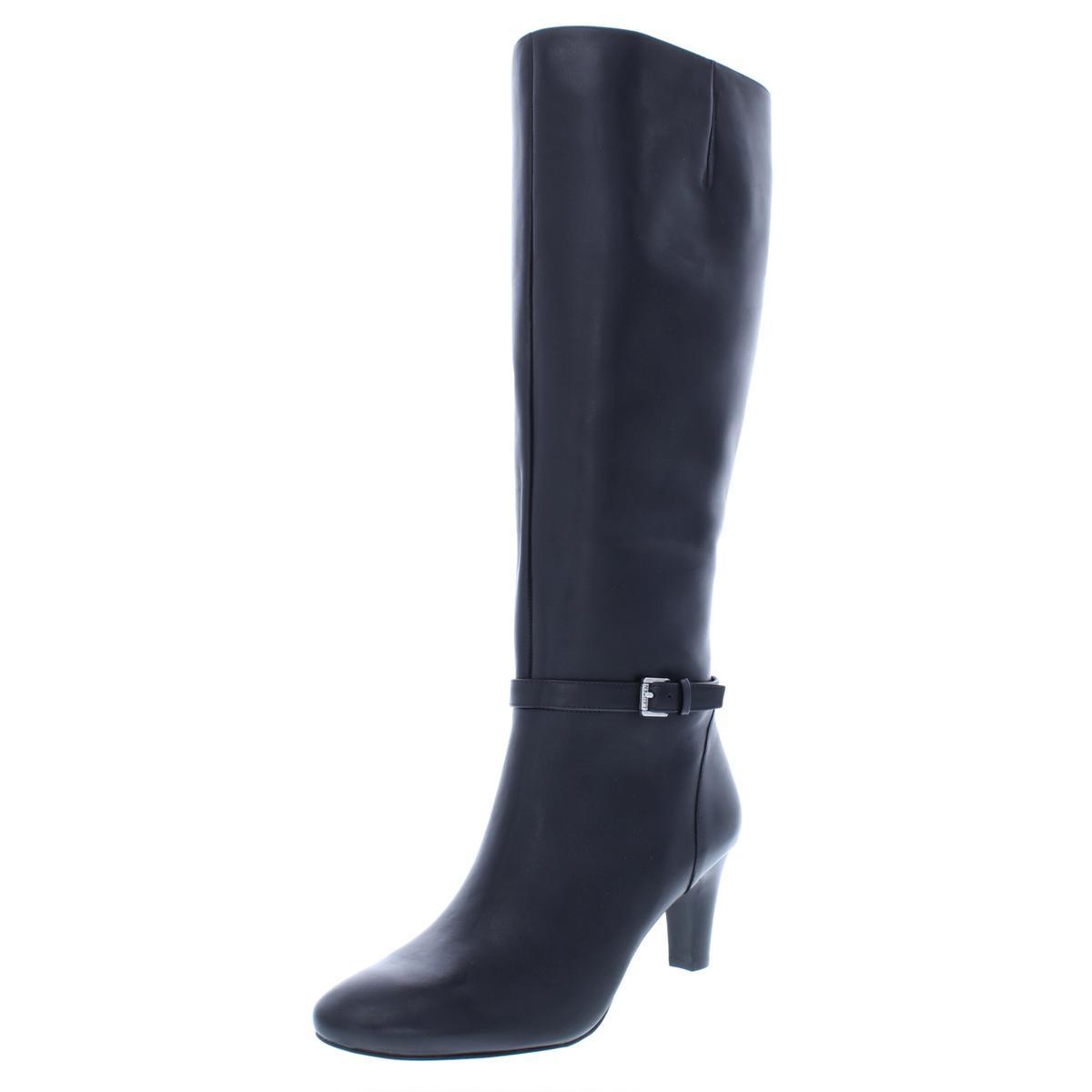 Lauren Lauren Lauren Ralph Lauren Damenschuhe Sandie Leder Buckle Knee-High Stiefel Heels BHFO 0256 230df3