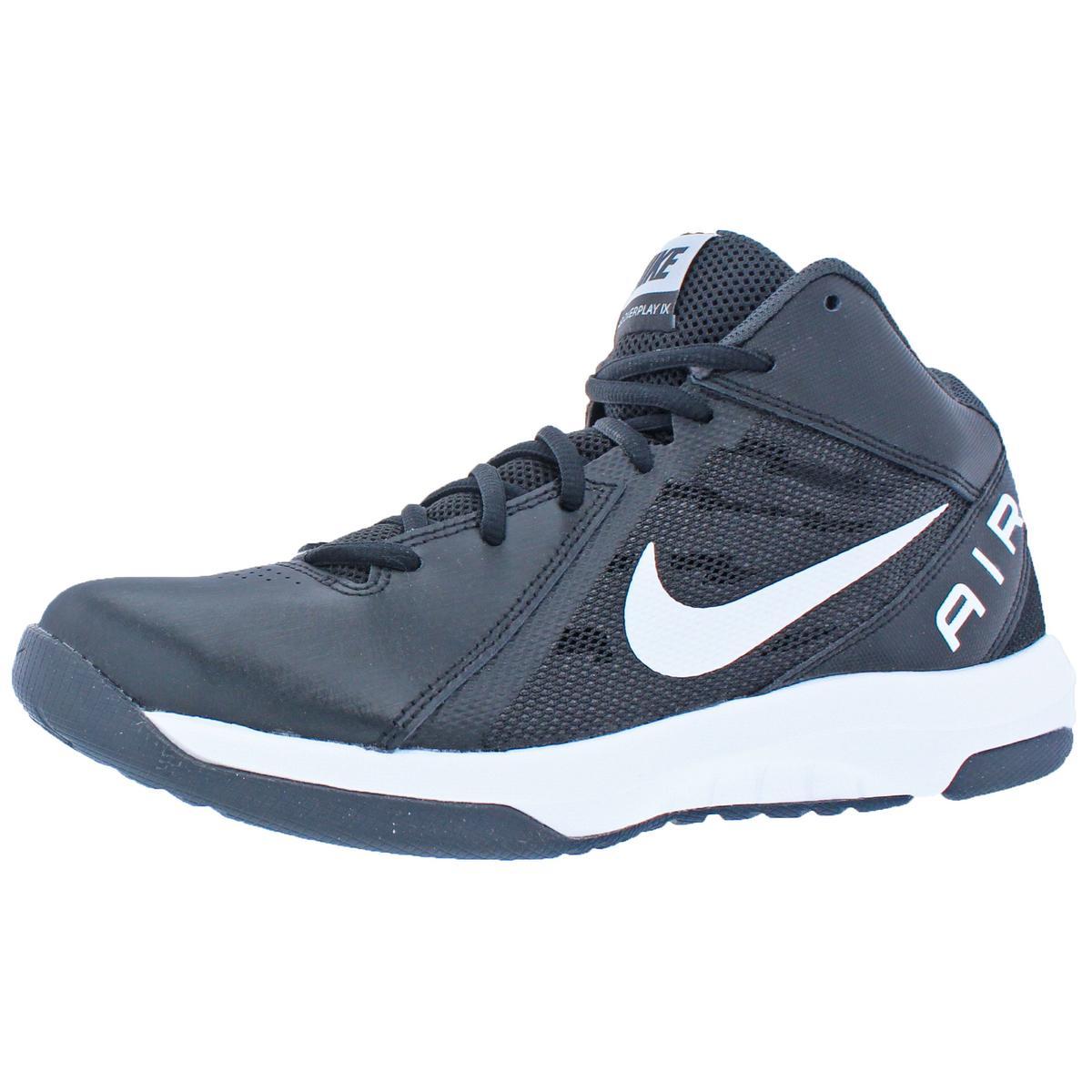 292e60e8a4e4 Details about Nike Mens Air Overplay 9 Black Basketball Shoes Sneakers 7.5  Wide (E) BHFO 9142